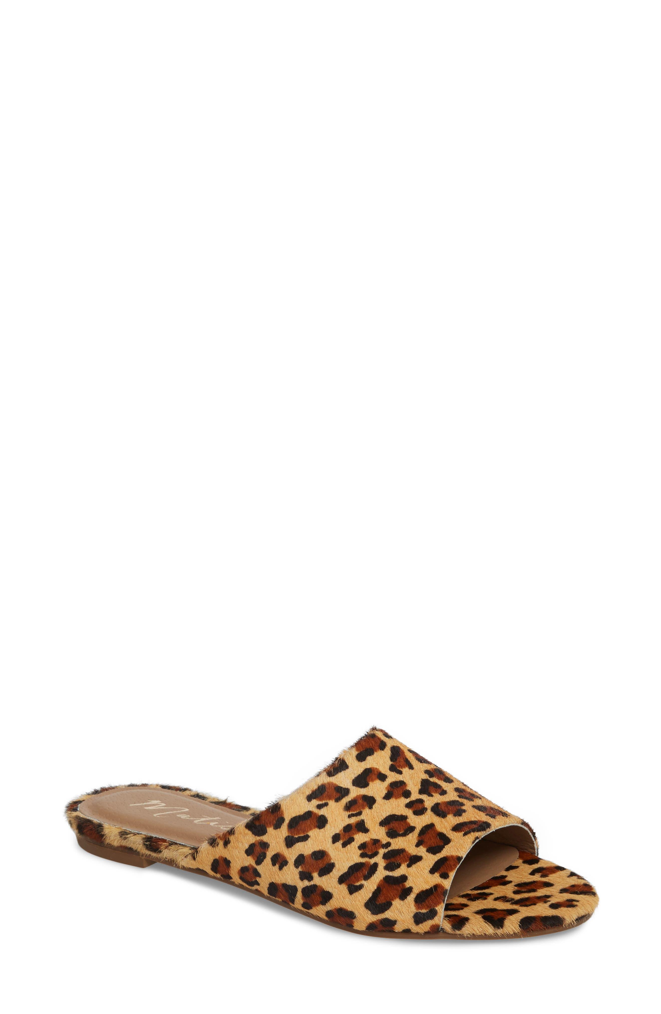 Lira Genuine Calf Hair Sandal,                             Main thumbnail 1, color,                             LEOPARD LEATHER