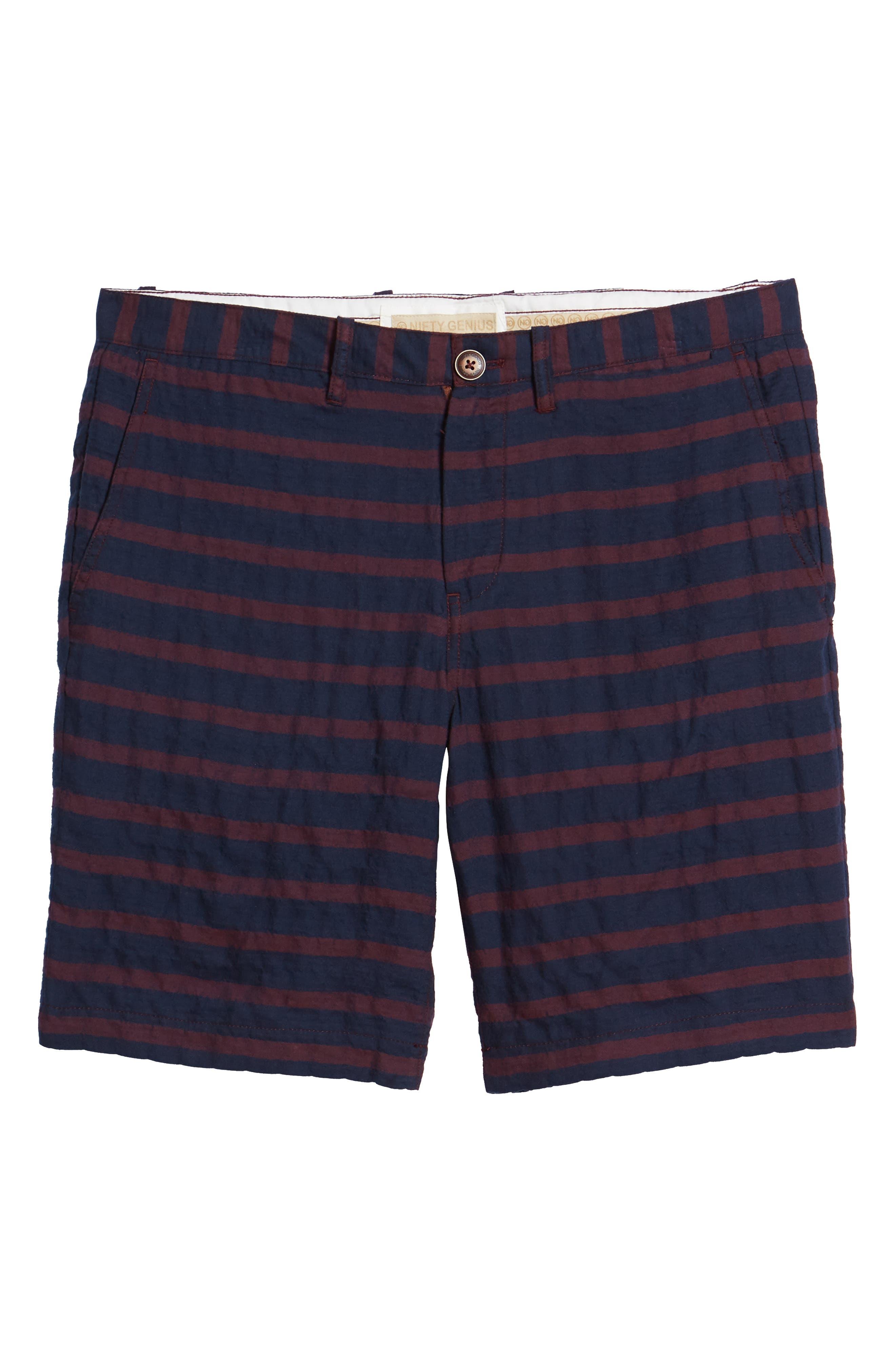 Morgan Stripe Bermuda Shorts,                             Alternate thumbnail 6, color,                             601