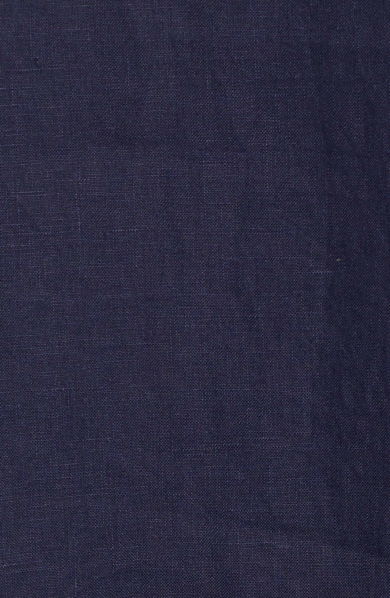 Organic Linen Round Neck Shift Dress,                             Alternate thumbnail 5, color,                             419