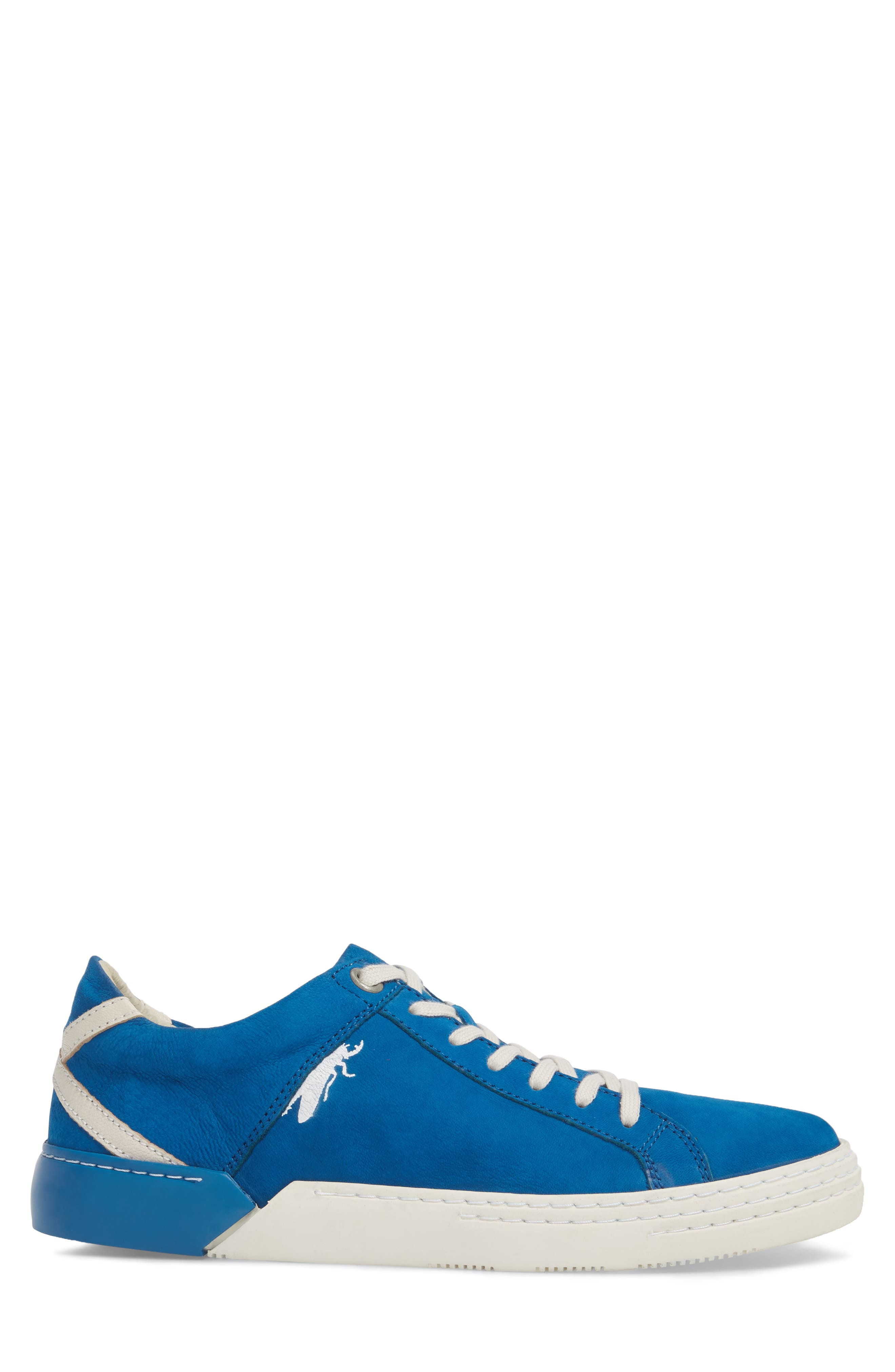 Sene Low Top Sneaker,                             Alternate thumbnail 3, color,                             ELECTRIC BLUE LEATHER