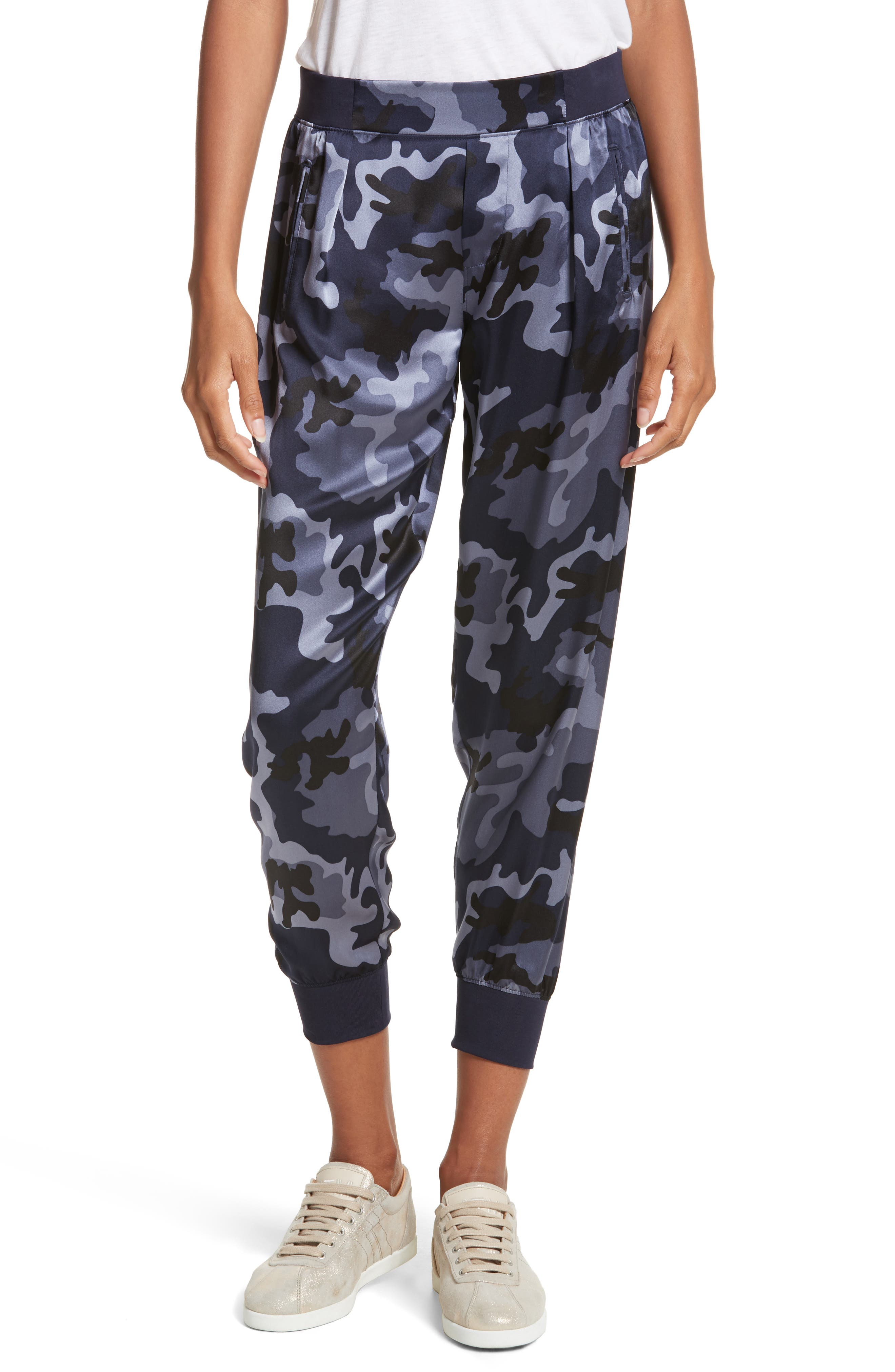 ATM ANTHONY THOMAS MELILLO Camo Silk Lounge Pants, Main, color, 410