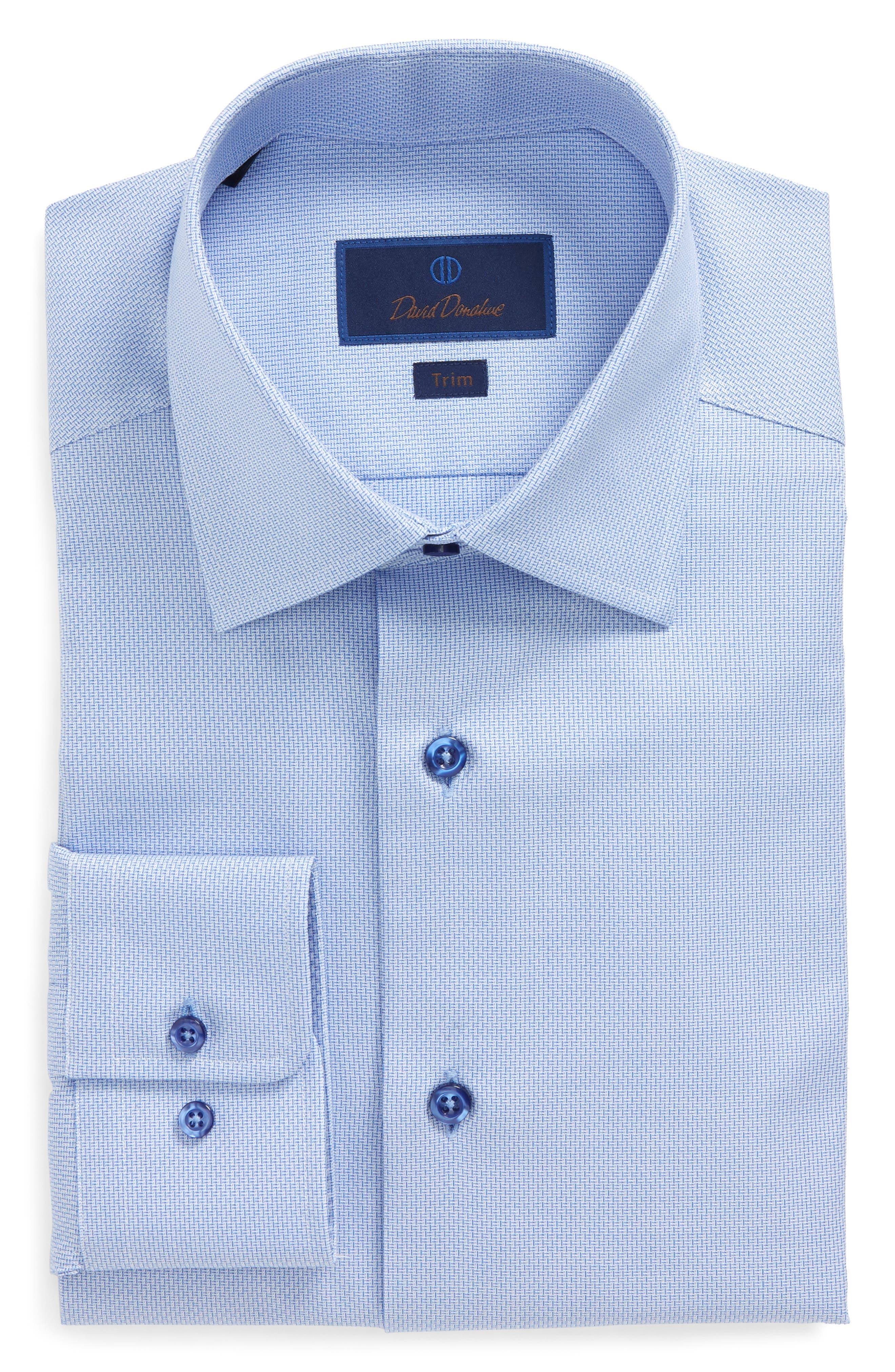 Trim Fit Solid Dress Shirt,                             Alternate thumbnail 5, color,                             423