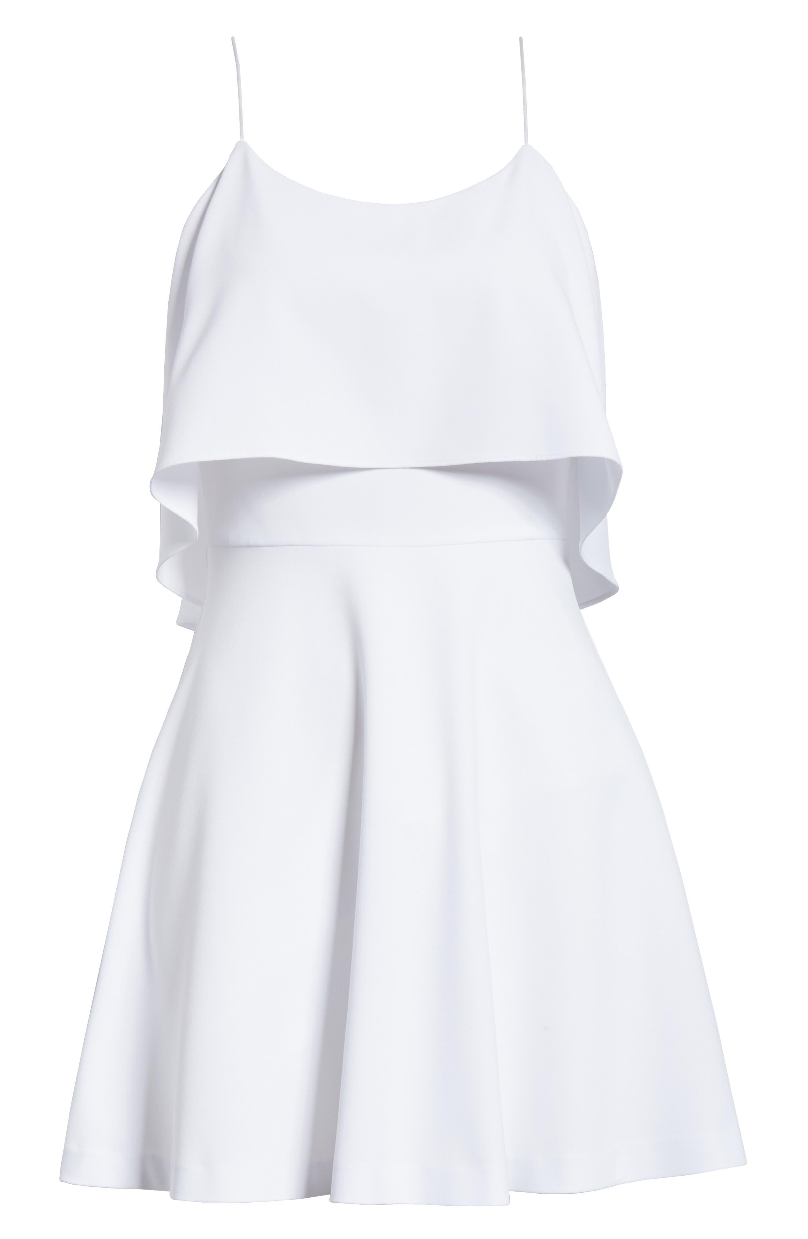 Kipp Layered Ruffle Short Dress,                             Alternate thumbnail 6, color,                             100