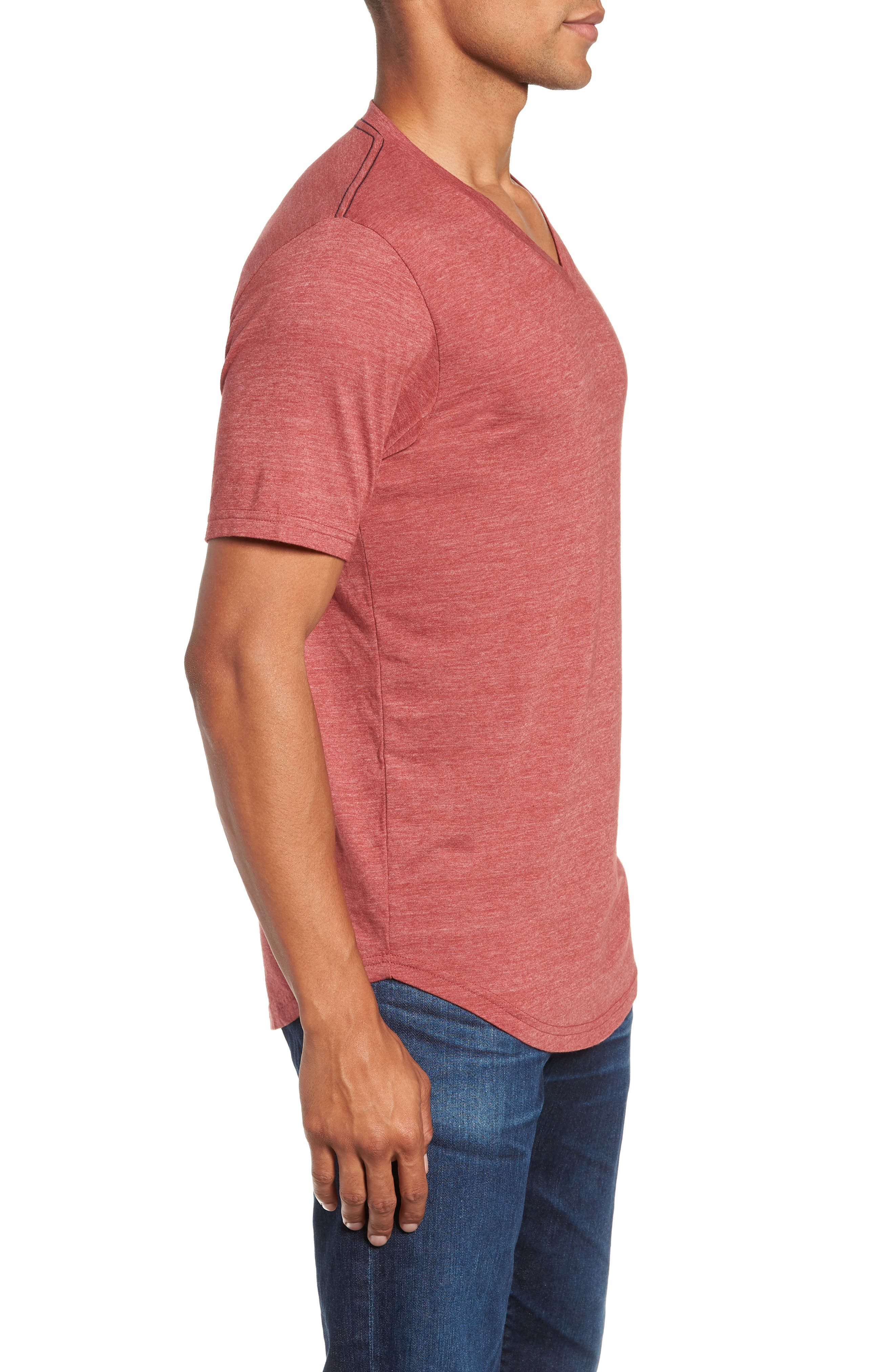 Scallop Triblend V-Neck T-Shirt,                             Alternate thumbnail 59, color,