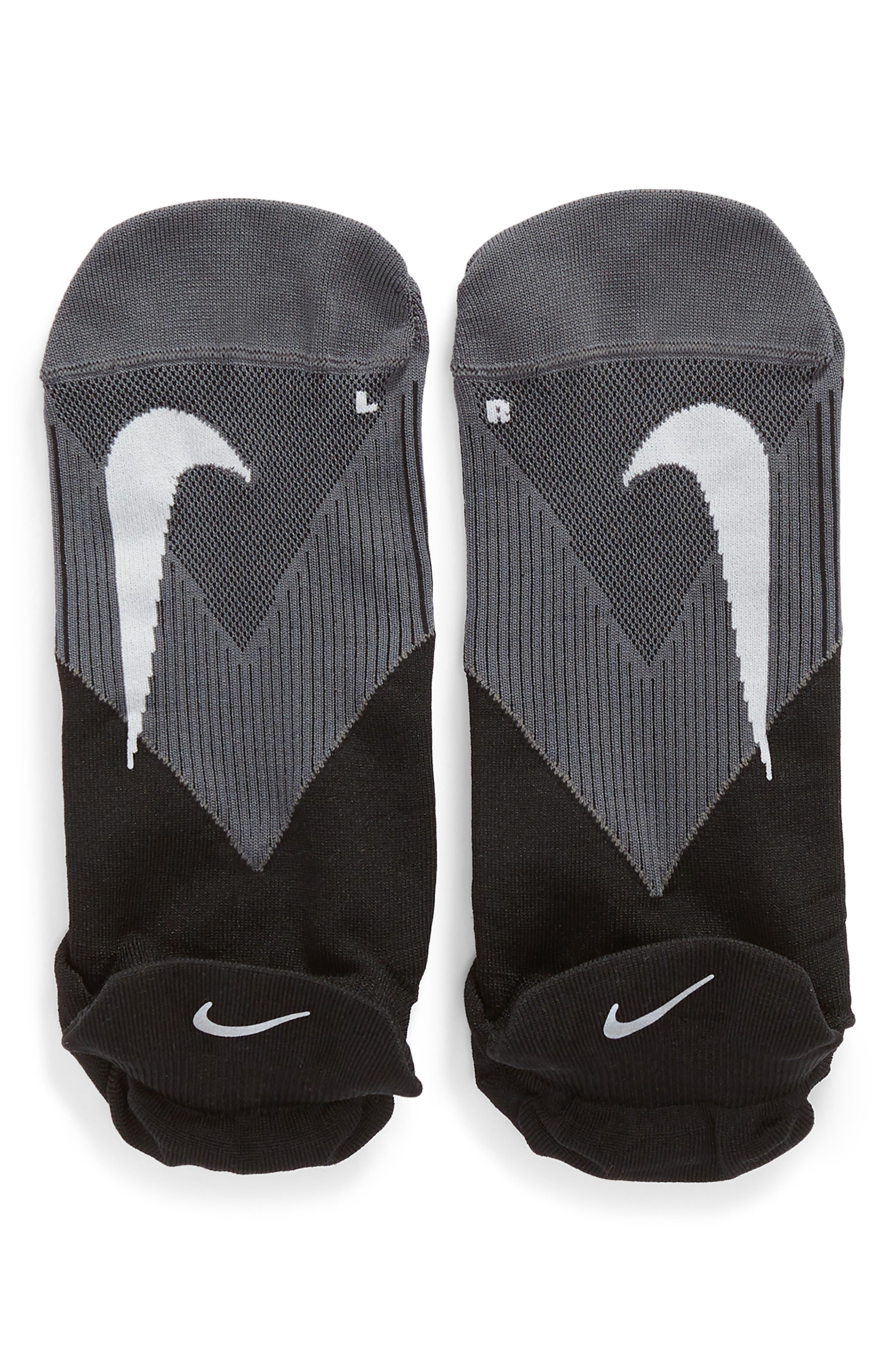 Elite Lightweight No-Show Socks,                             Alternate thumbnail 2, color,                             BLACK/ WHITE