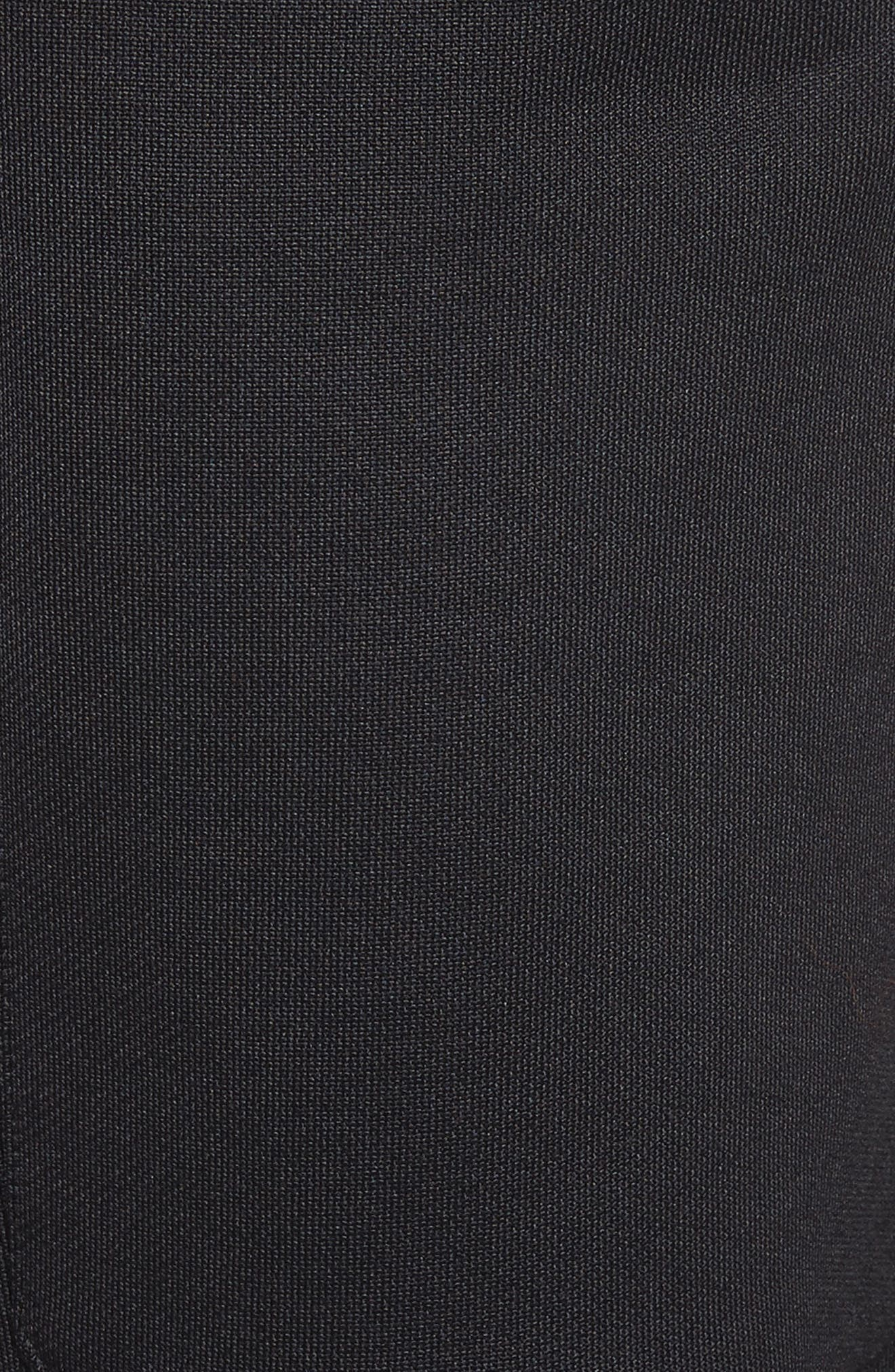 Marques'Almeida Tracksuit Wide Leg Fleece Shorts,                             Alternate thumbnail 5, color,                             001
