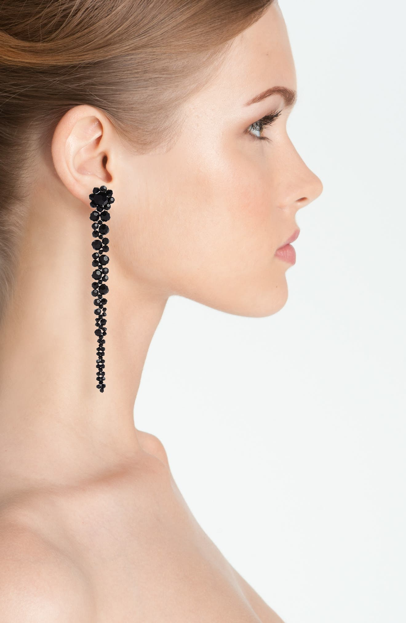 Beaded Drop Earrings,                         Main,                         color, 001