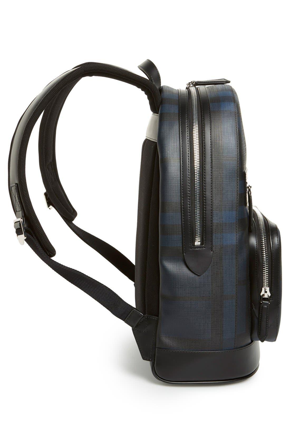 London Check Backpack,                             Alternate thumbnail 3, color,                             410