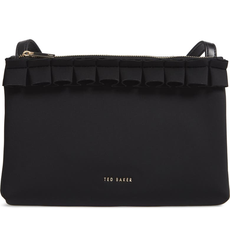 Ted Baker London Really Ruffle Faux Leather Crossbody Bag  79c8fa86d5890