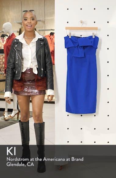 Strapless Bow Detail Sheath Dress, sales video thumbnail