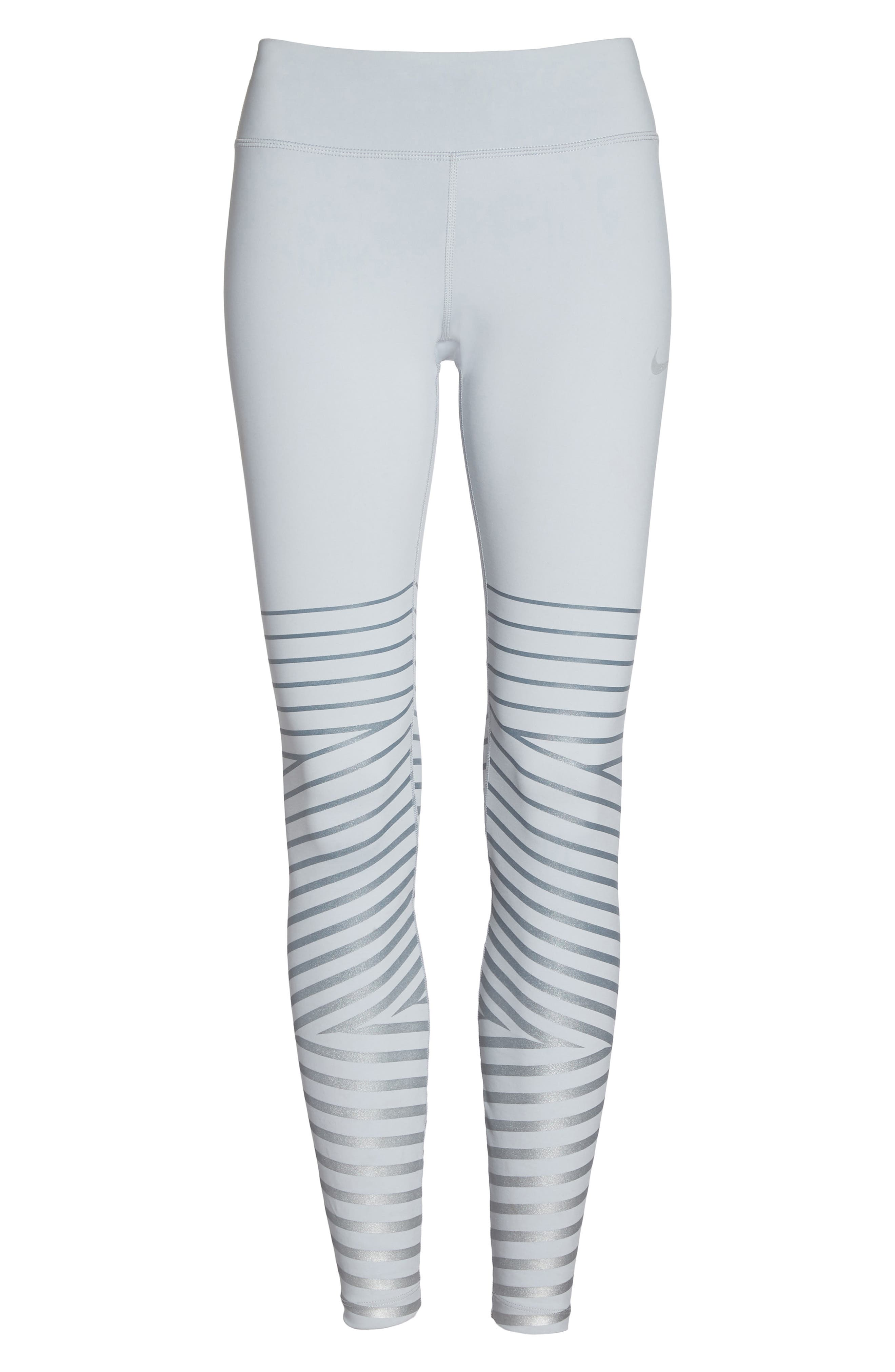 Legendary Mid Rise Zip Cuff Training Tights,                             Alternate thumbnail 7, color,                             020