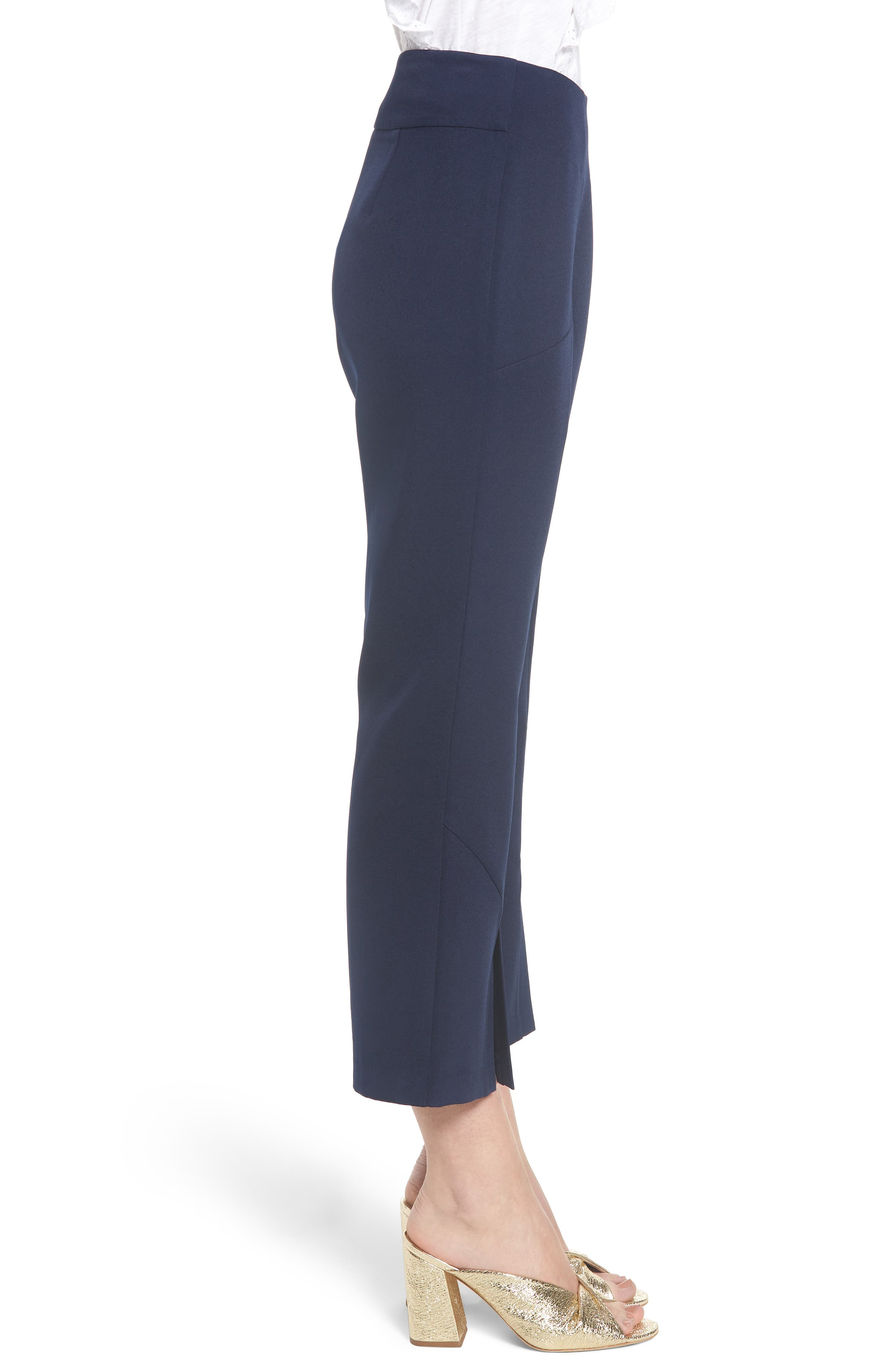 High Waist Crop Flare Pants,                             Alternate thumbnail 3, color,