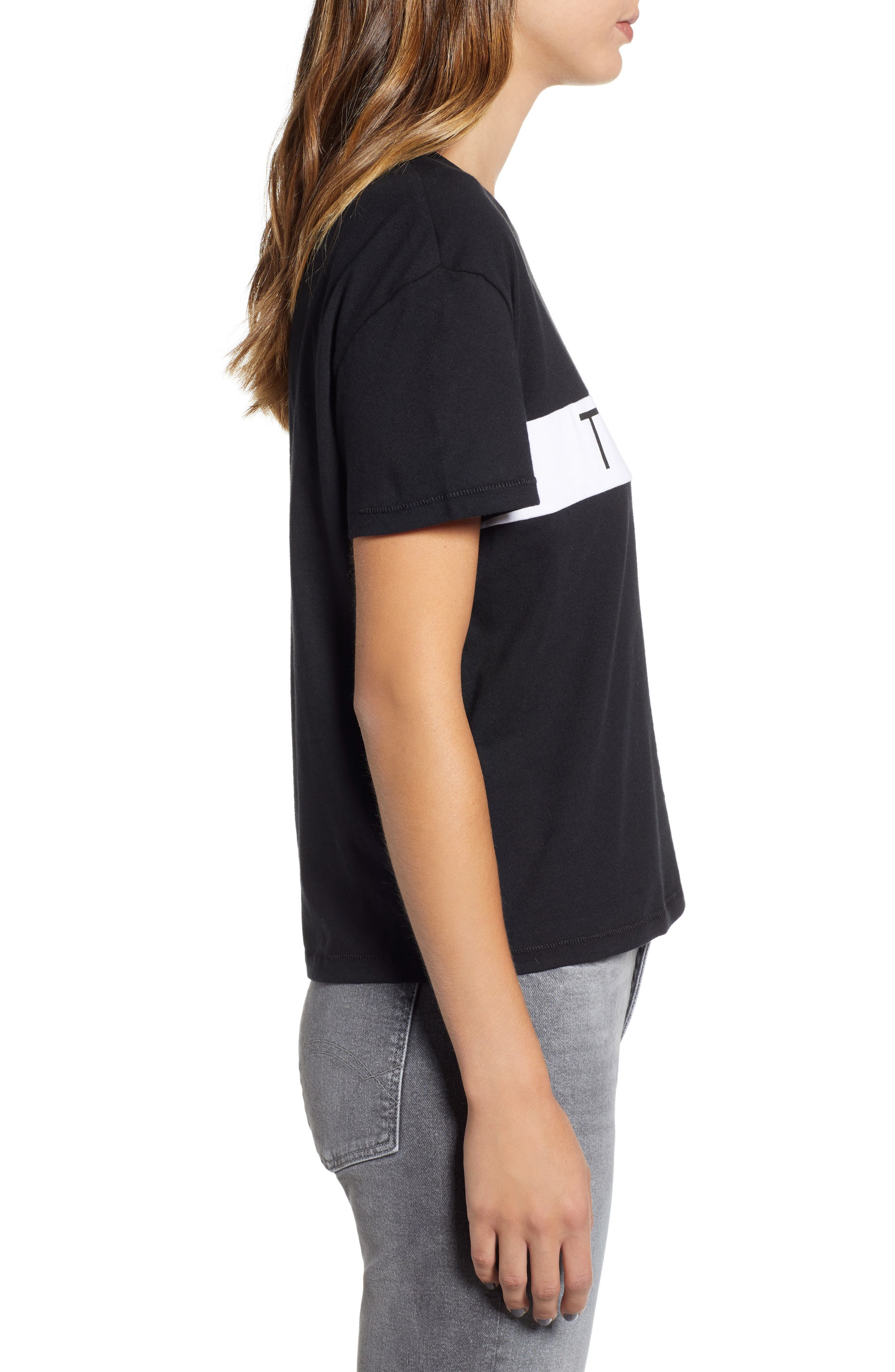 Tommy Bold Logo Tee,                             Alternate thumbnail 3, color,                             TOMMY BLACK