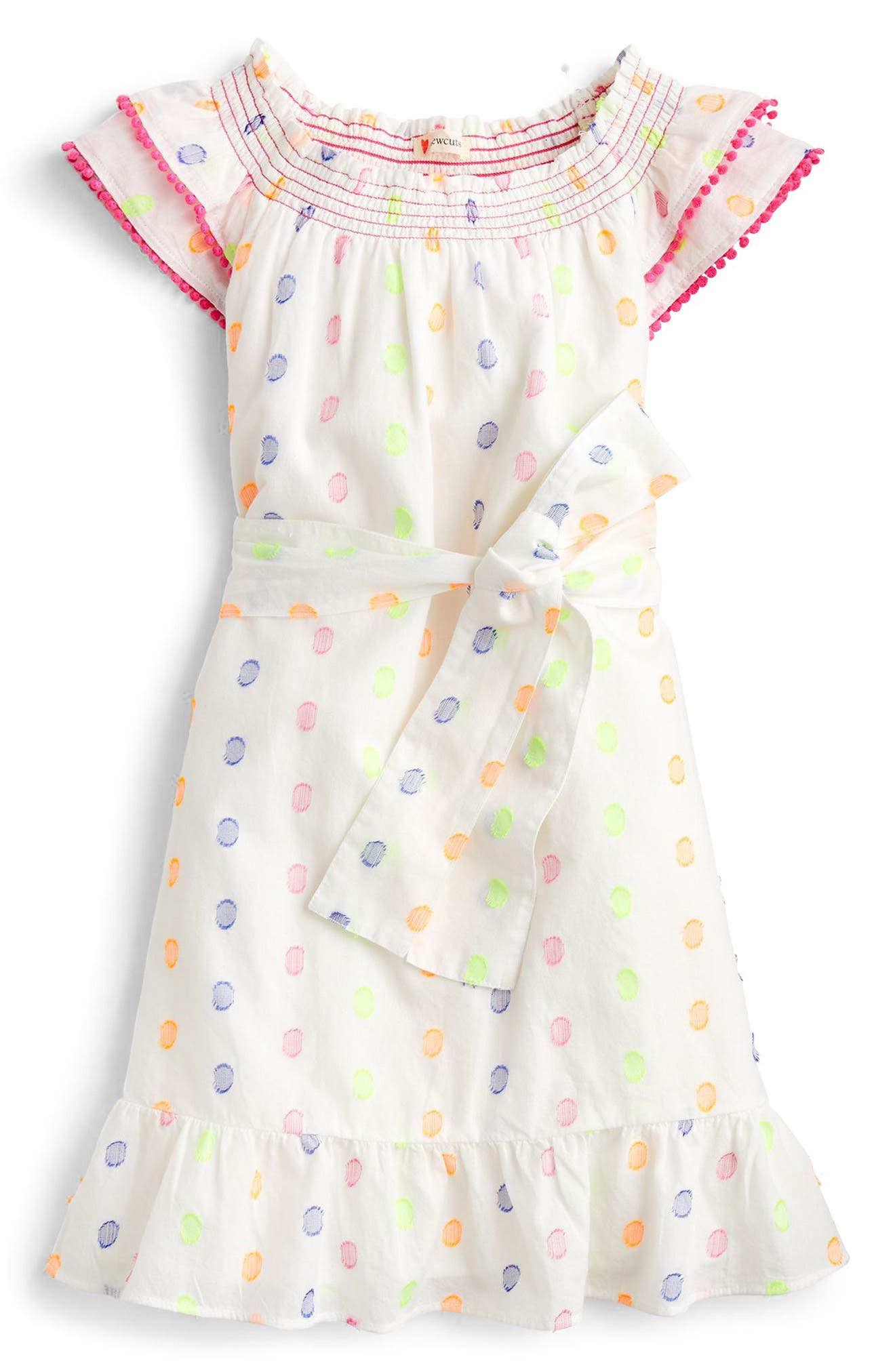 Cora Dot Dress,                         Main,                         color, 100