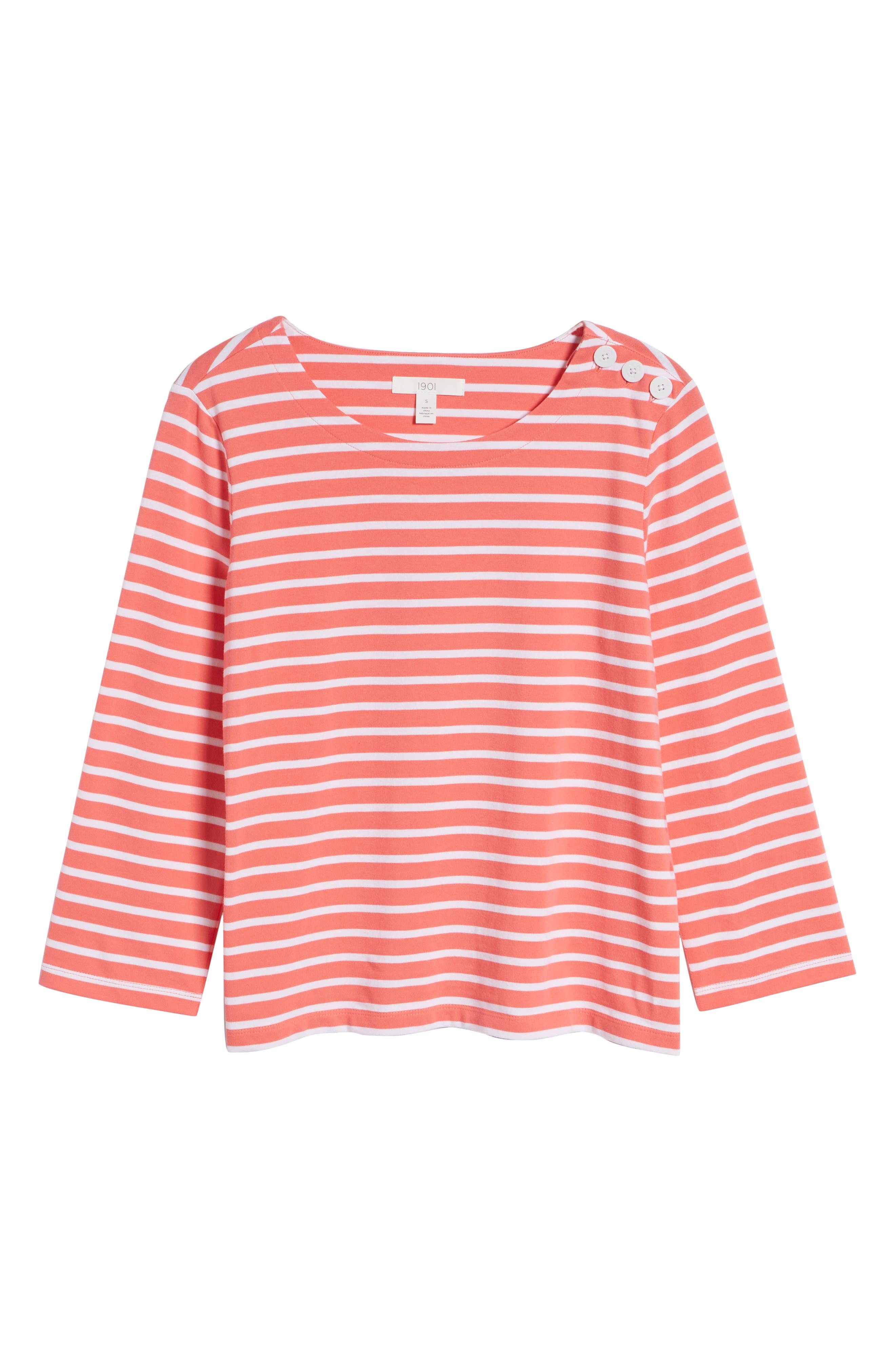 Shoulder Button Cotton Top,                             Alternate thumbnail 7, color,                             958
