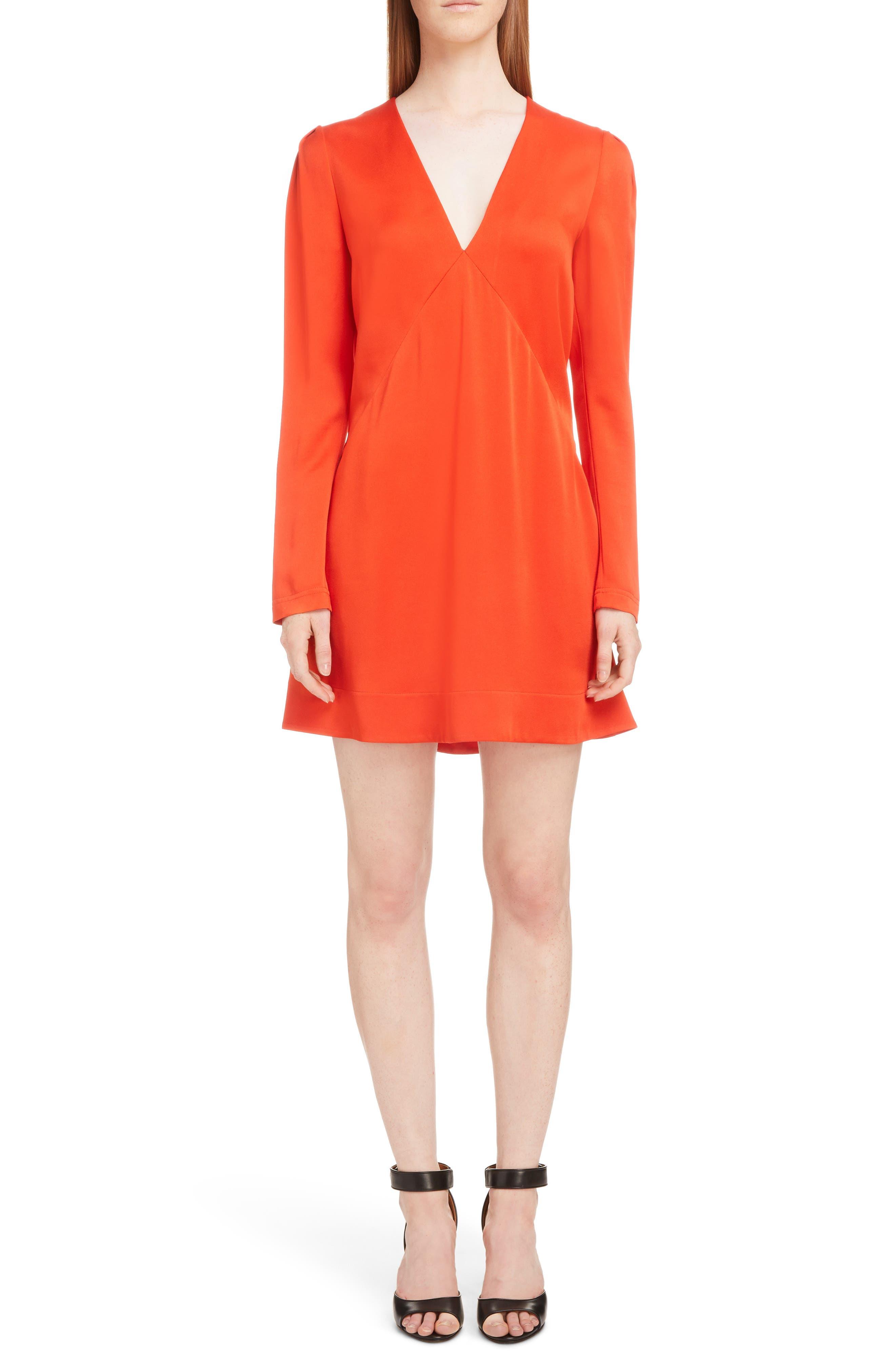 Givenchy Crepe Back Satin Minidress, US / 44 FR - Red