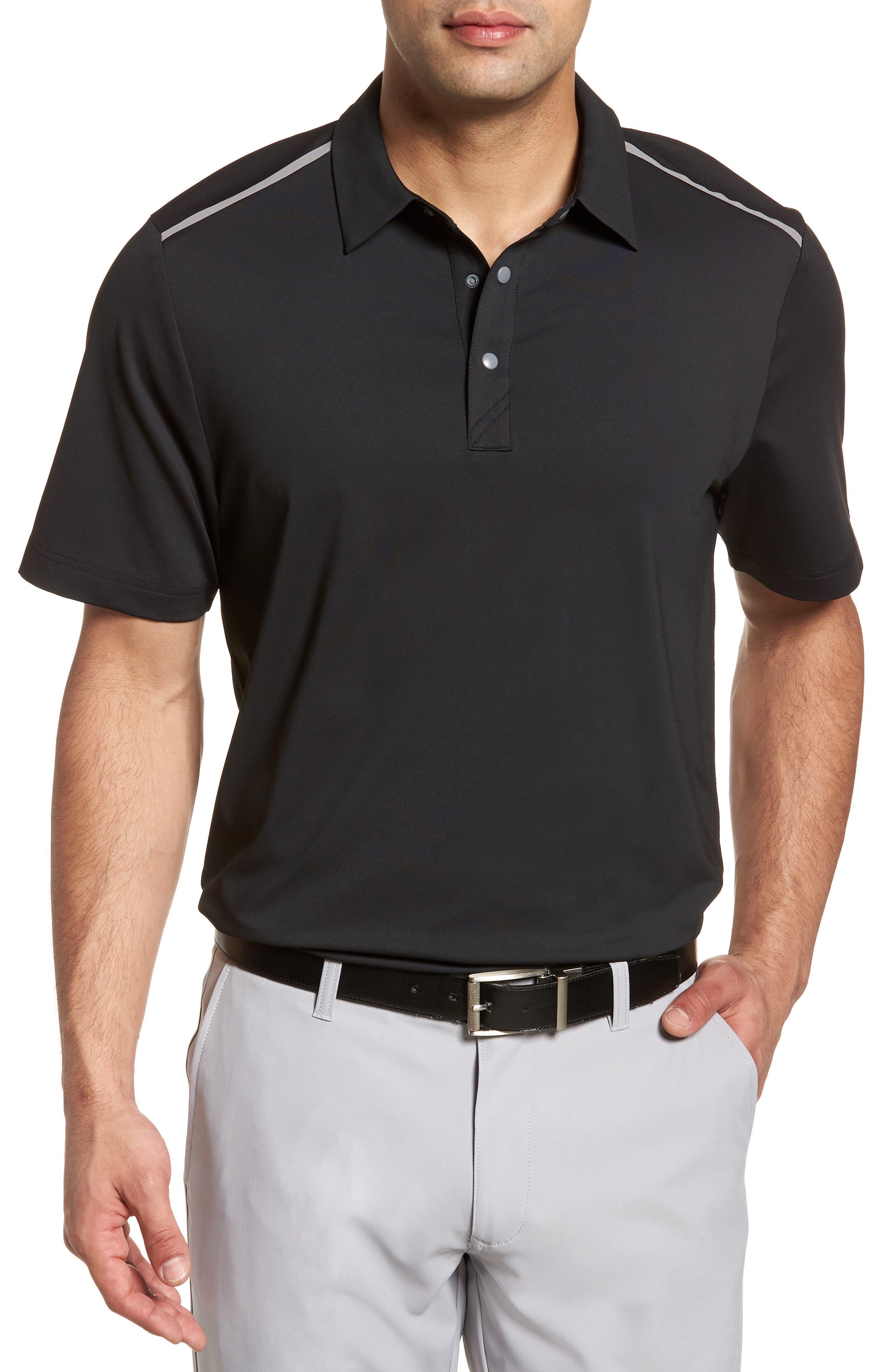 Fusion Classic Fit Polo,                         Main,                         color, BLACK