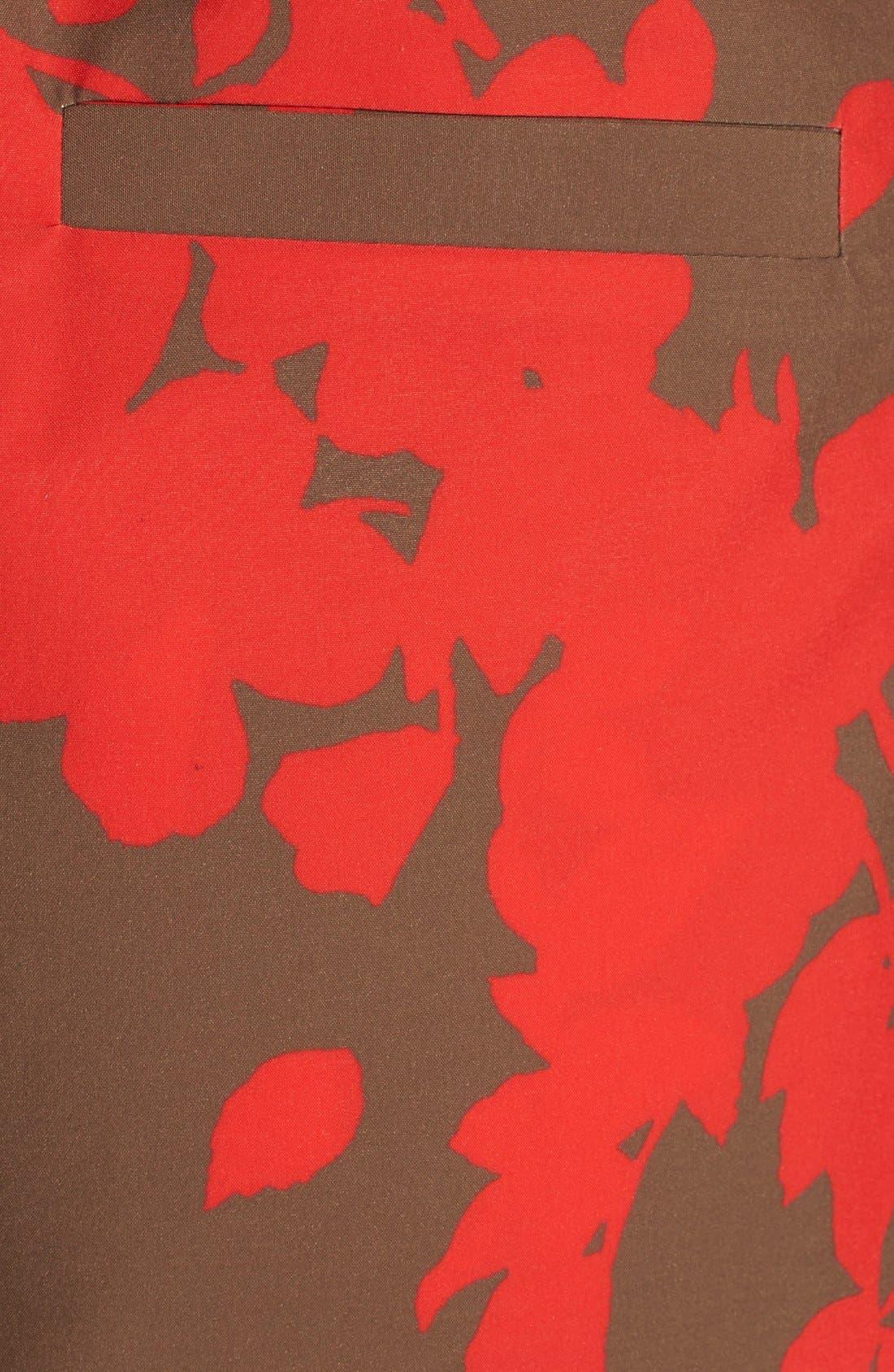 Print Tie Waist Paper Bag Shorts,                             Alternate thumbnail 2, color,                             210