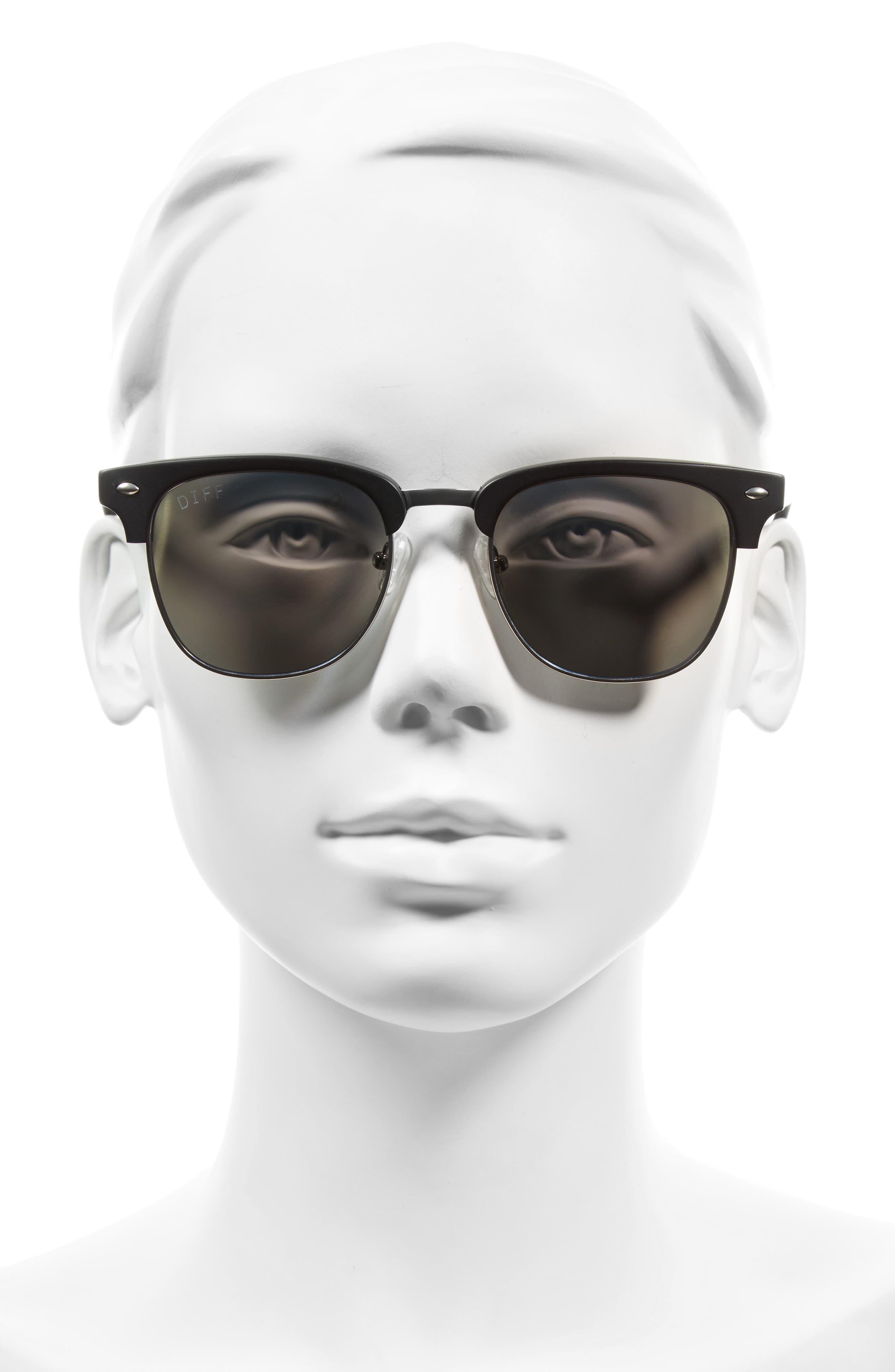 Barry 51mm Polarized Retro Sunglasses,                             Alternate thumbnail 7, color,