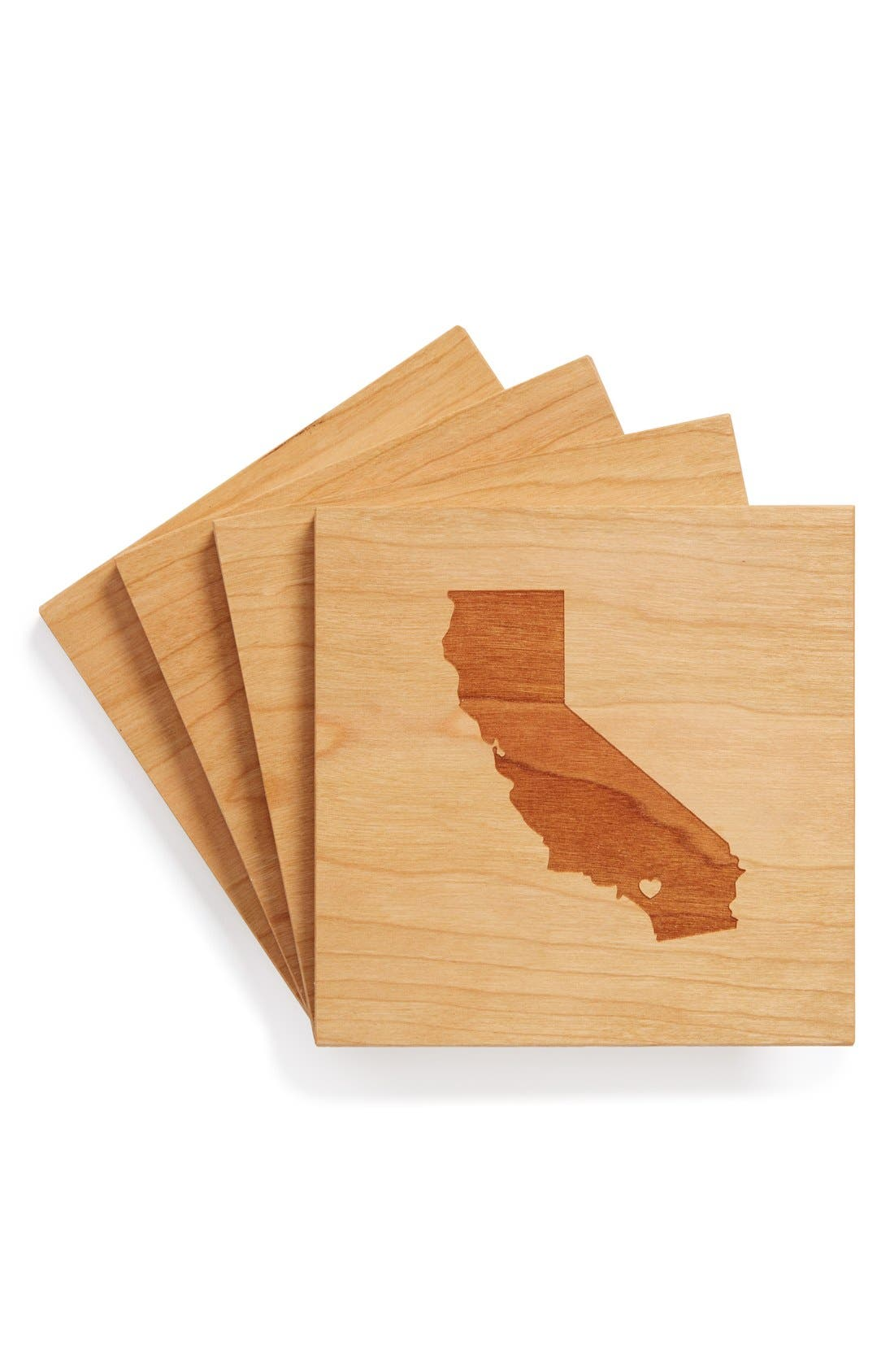 'State Silhouette' Coasters,                             Main thumbnail 29, color,