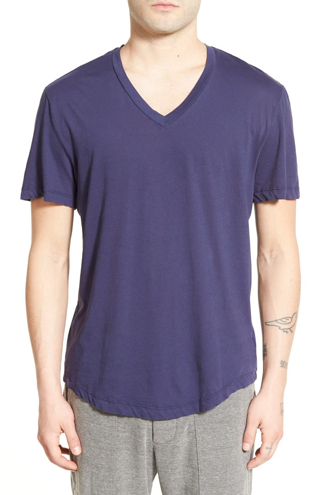 'Clear Jersey' Mélange V-Neck T-Shirt,                             Main thumbnail 7, color,