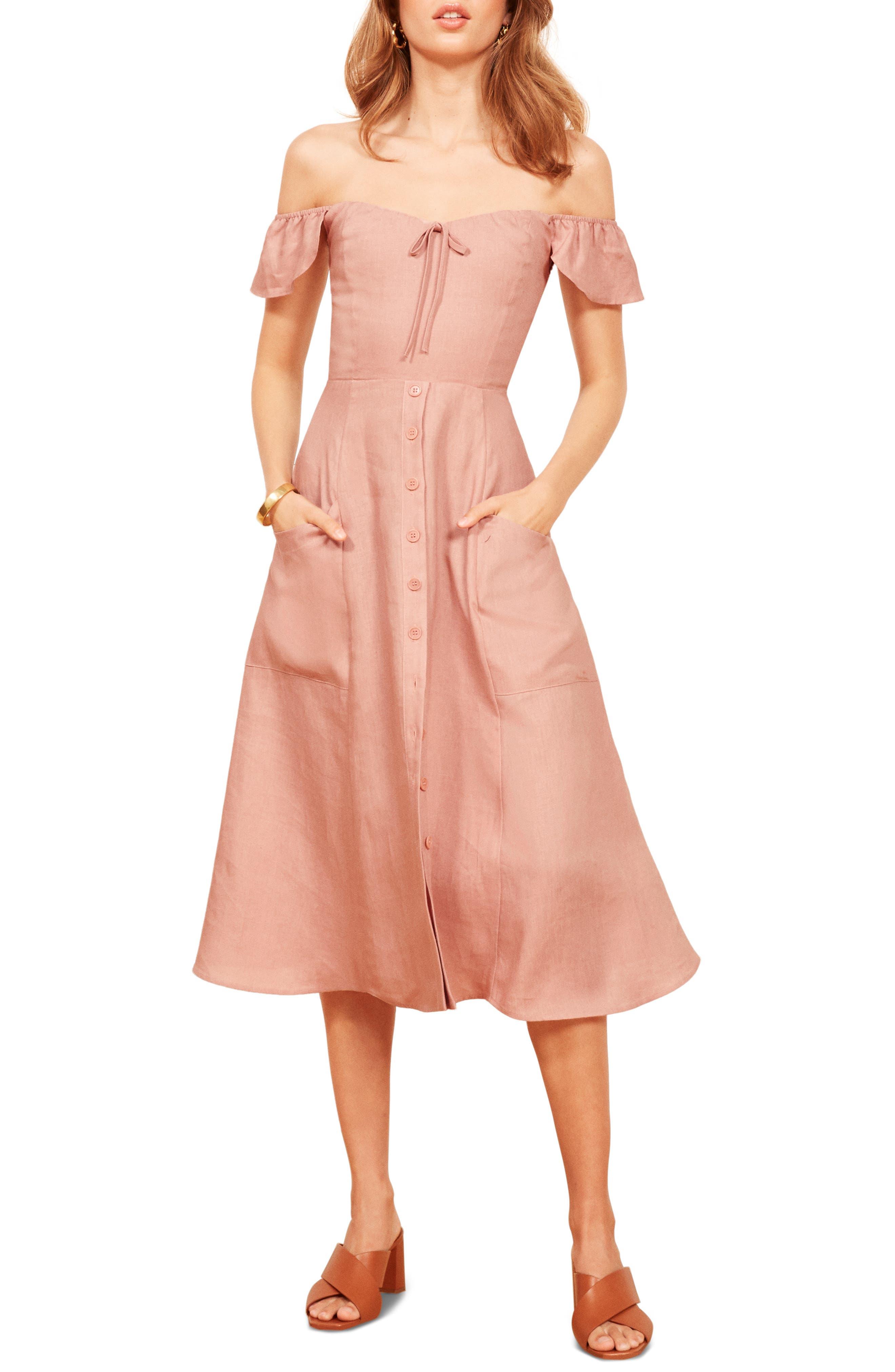Francis Prairie A-Line Dress,                         Main,                         color, 650