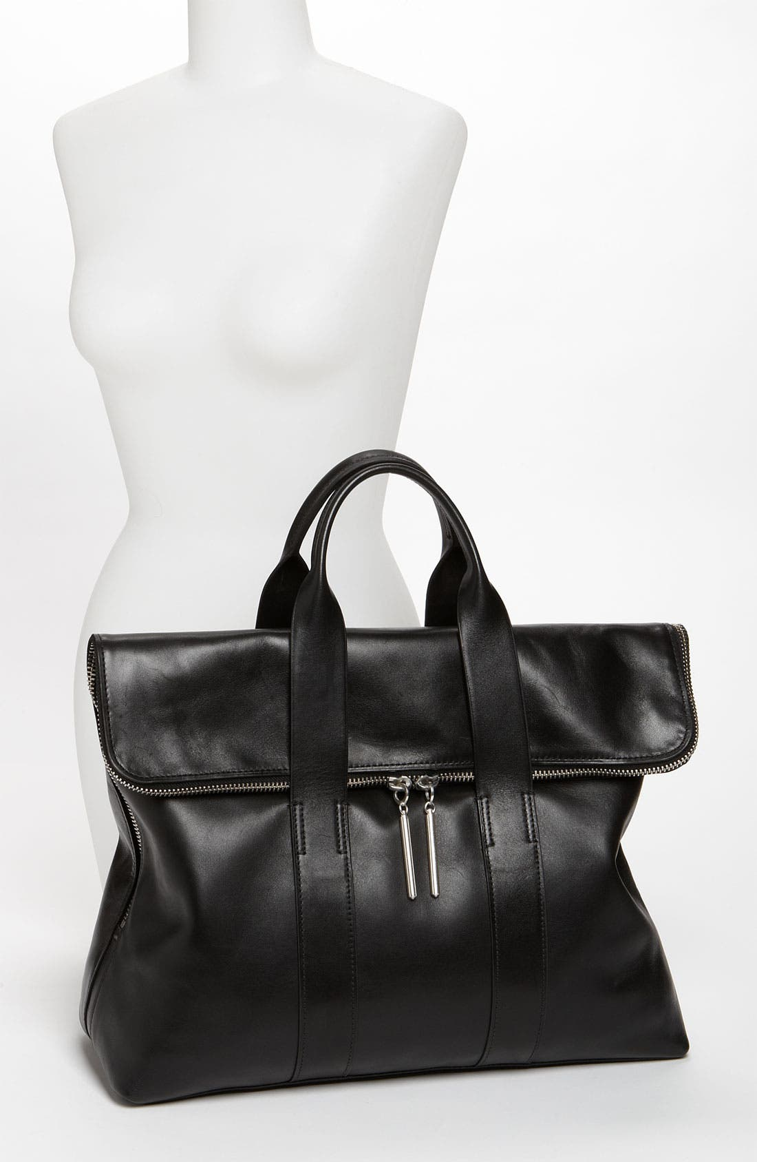 '31 Hour' Leather Tote,                             Alternate thumbnail 4, color,                             001