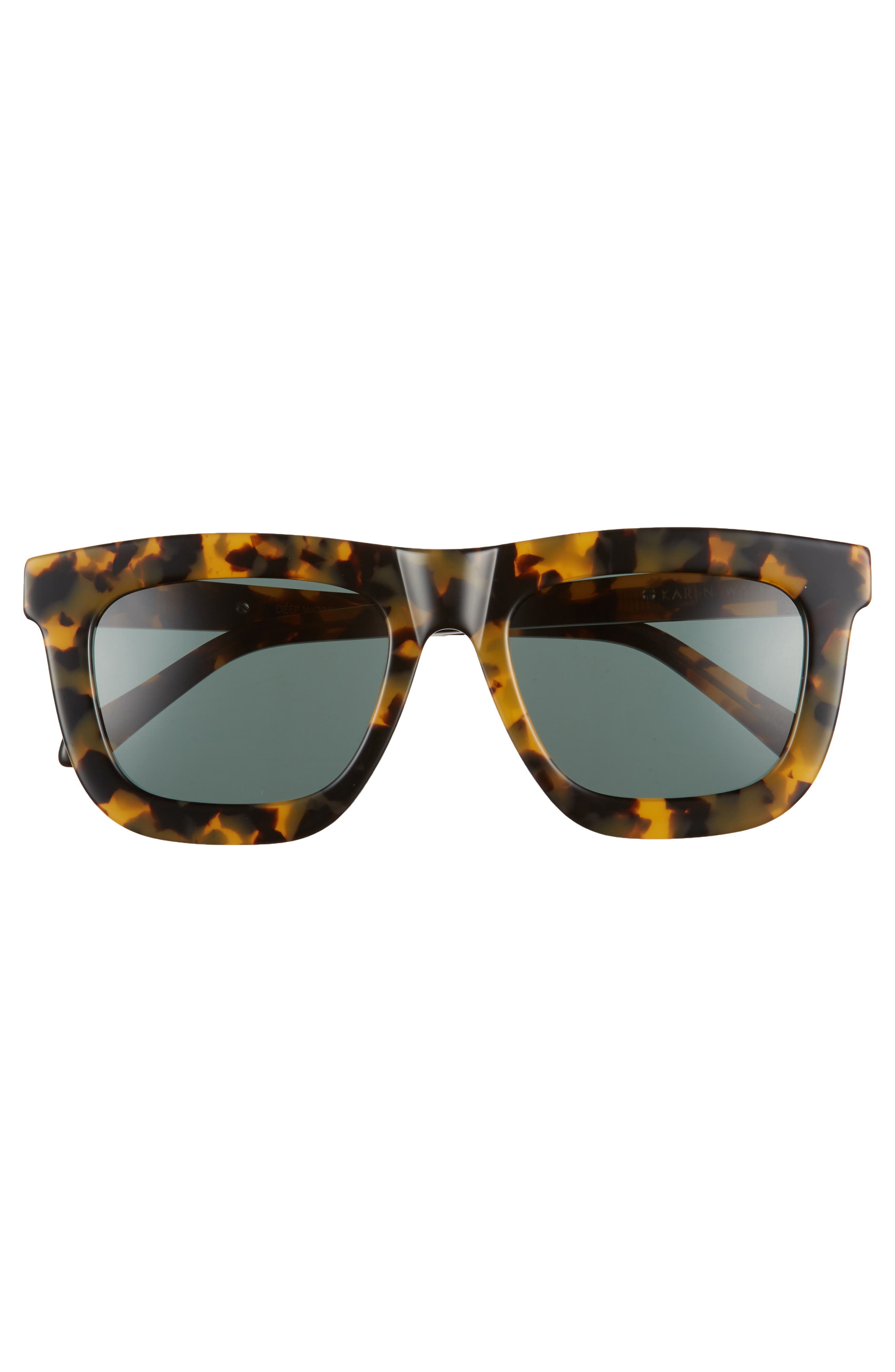 KAREN WALKER,                             Deep Worship 55mm Sunglasses,                             Alternate thumbnail 3, color,                             200