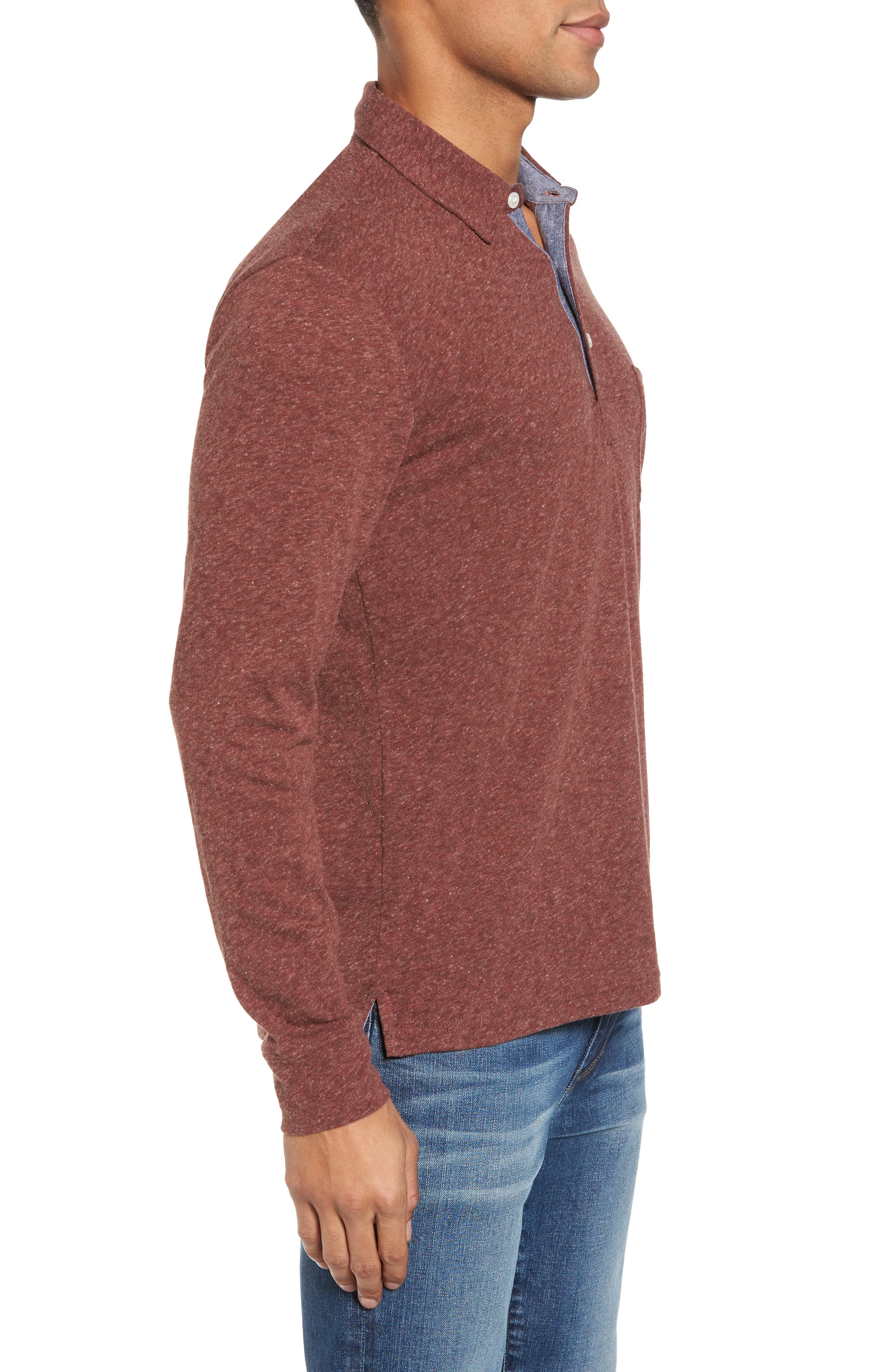 Long Sleeve Polo,                             Alternate thumbnail 3, color,                             930