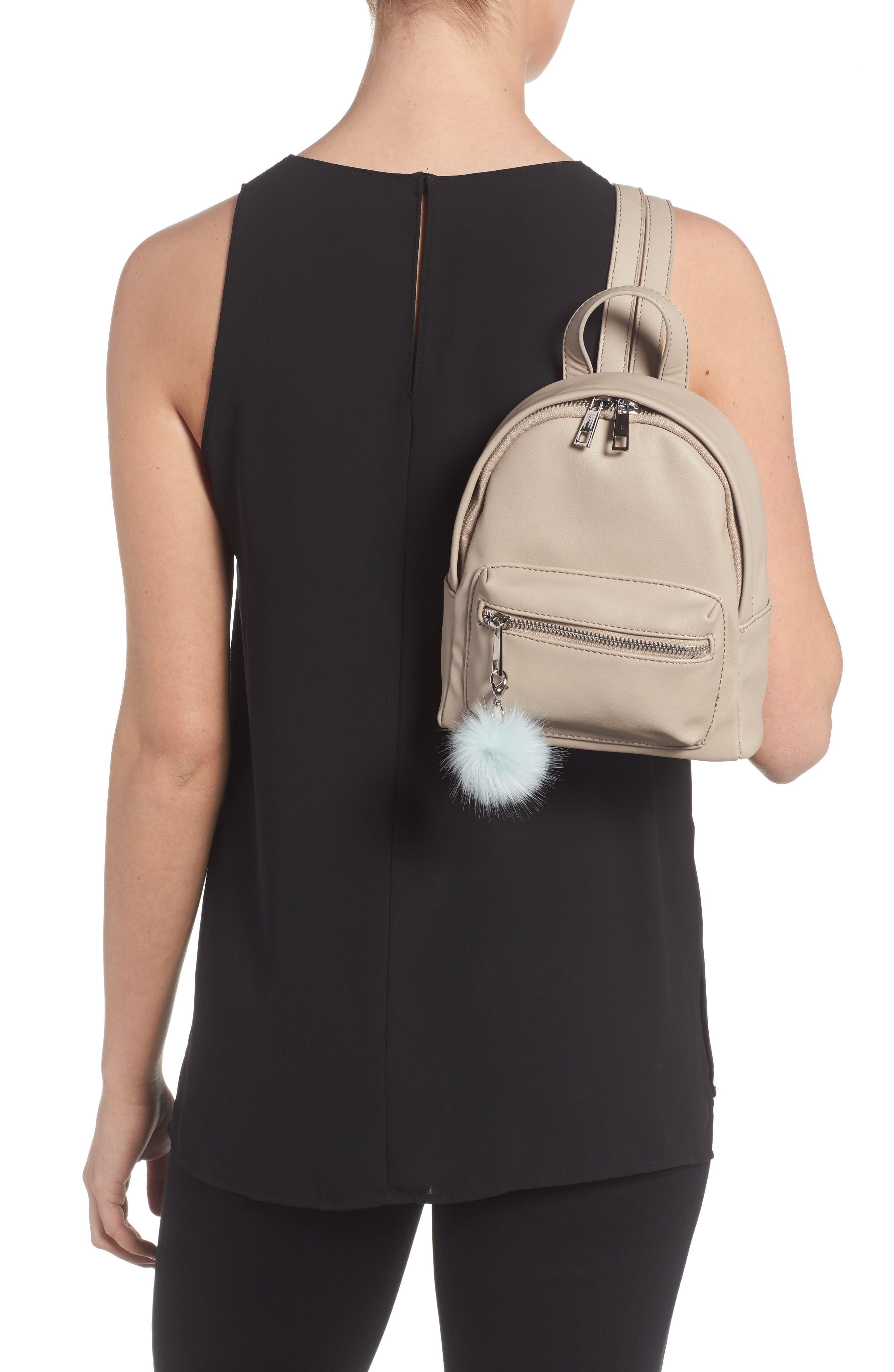 Faux Leather Mini Backpack,                             Alternate thumbnail 15, color,