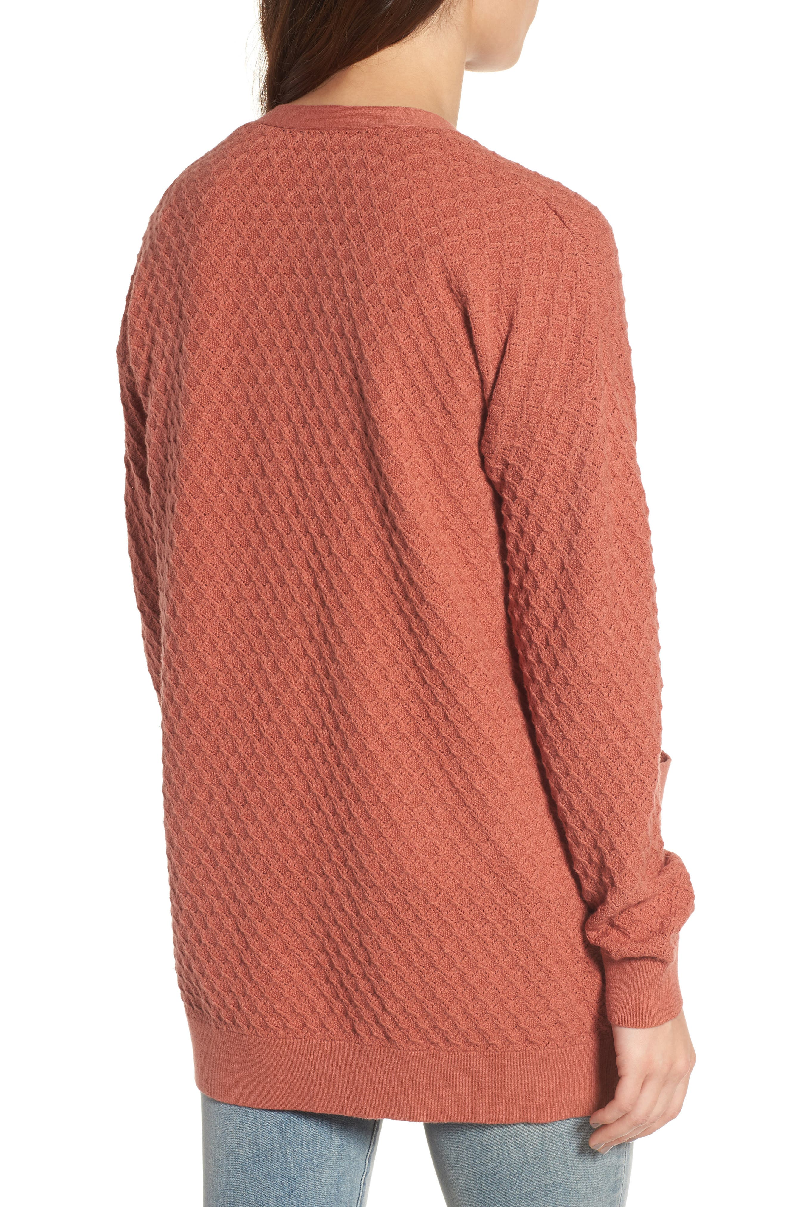 Pointelle Cardigan Sweater,                             Alternate thumbnail 8, color,