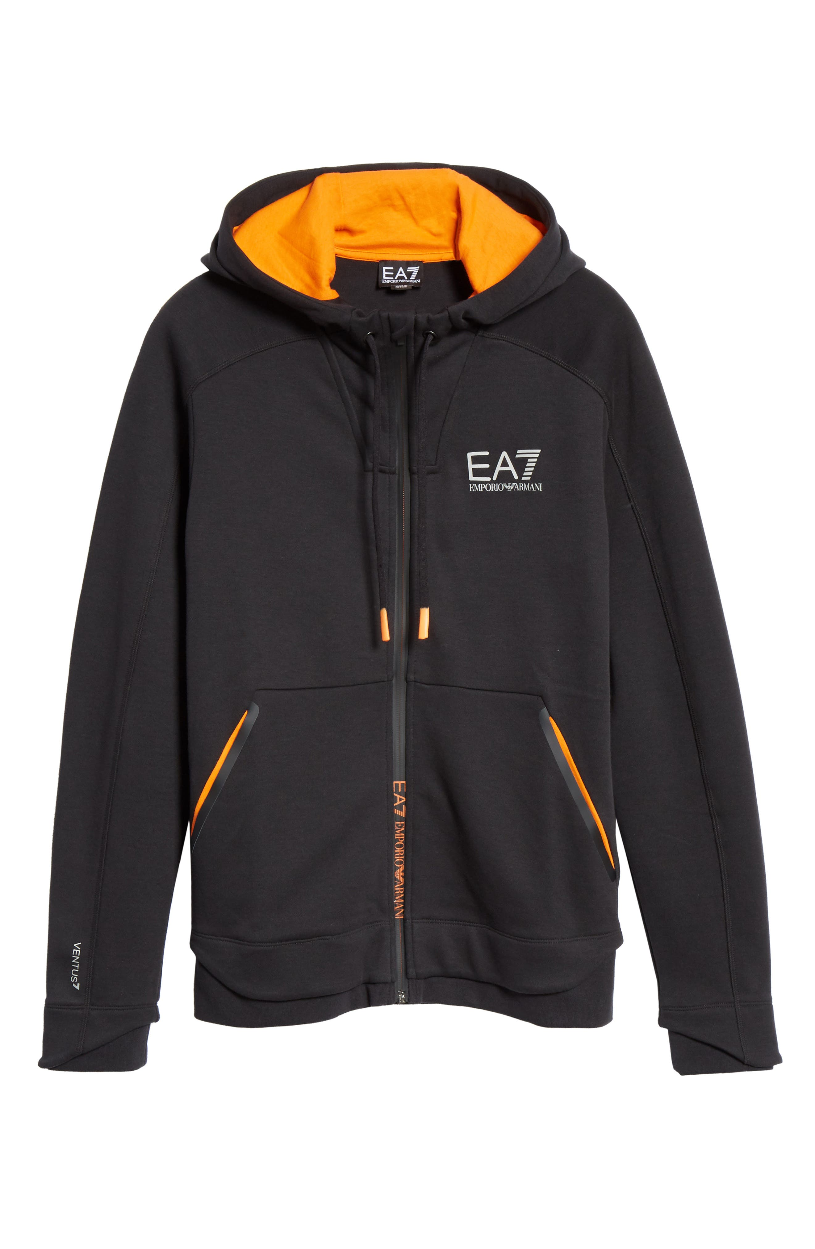 Ventus Zip Hoodie,                             Alternate thumbnail 6, color,                             BLACK