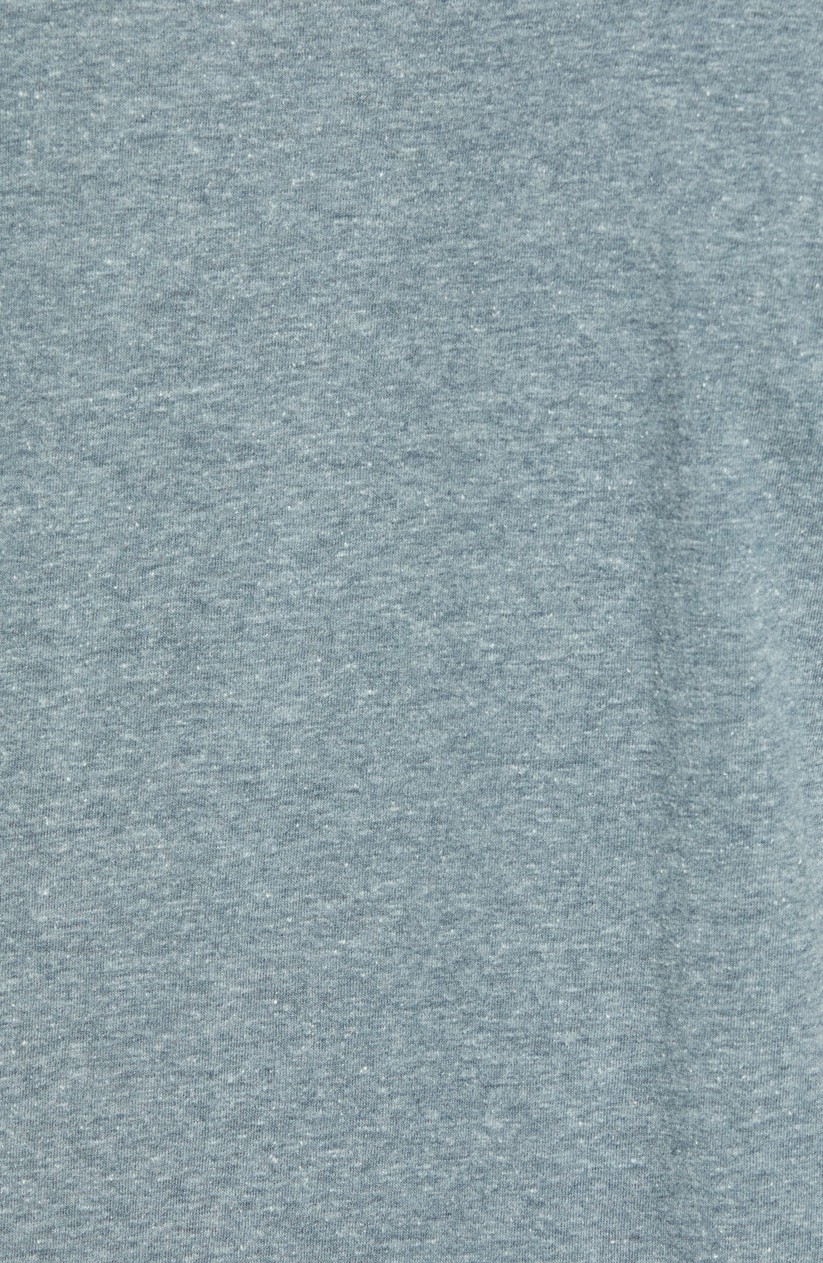 Print Box Graphic T-Shirt,                             Alternate thumbnail 5, color,                             HEATHER GREY/ PEACE OUT FLORAL