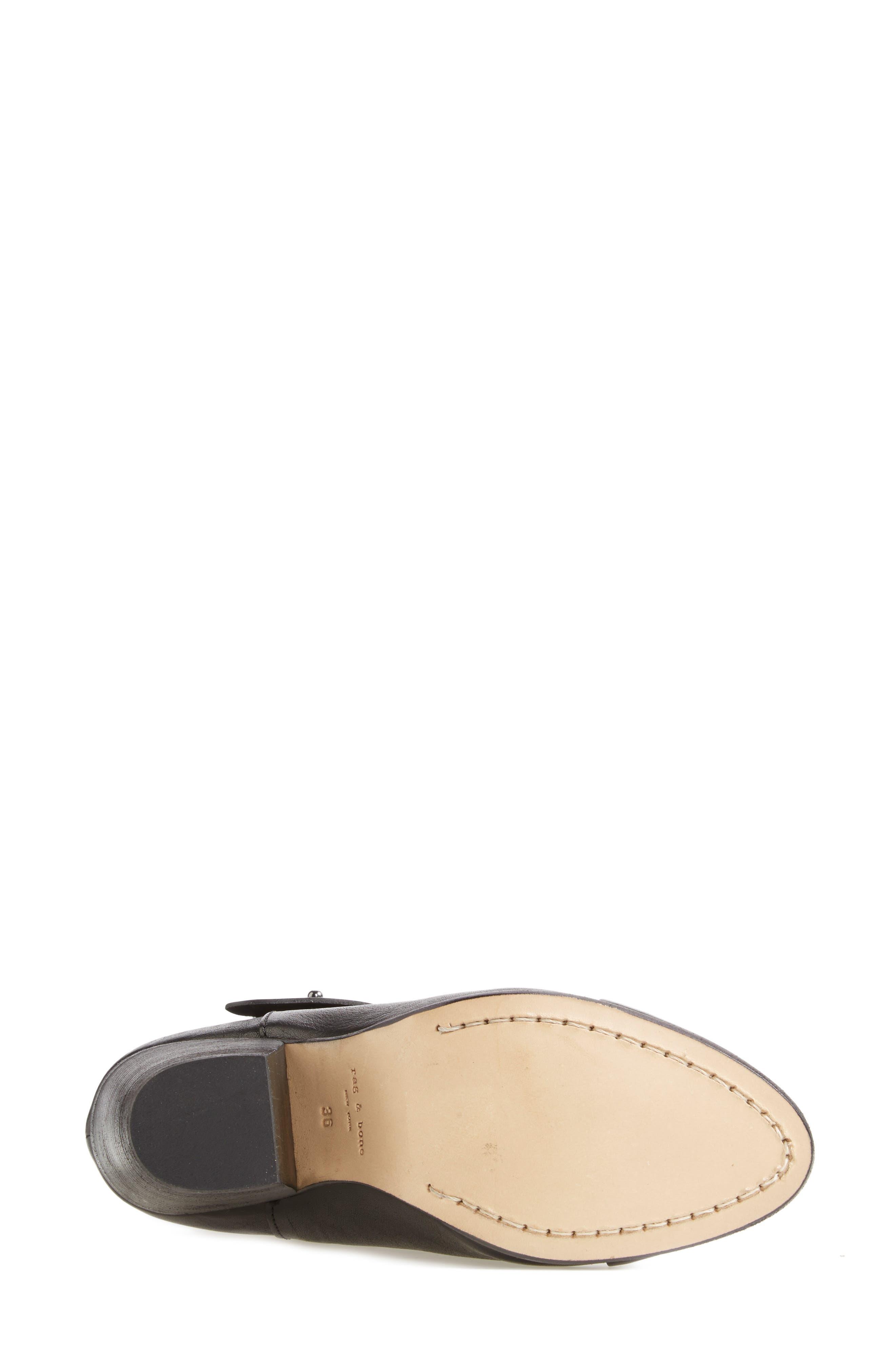 'Harrow' Leather Boot,                             Alternate thumbnail 4, color,                             BLACK