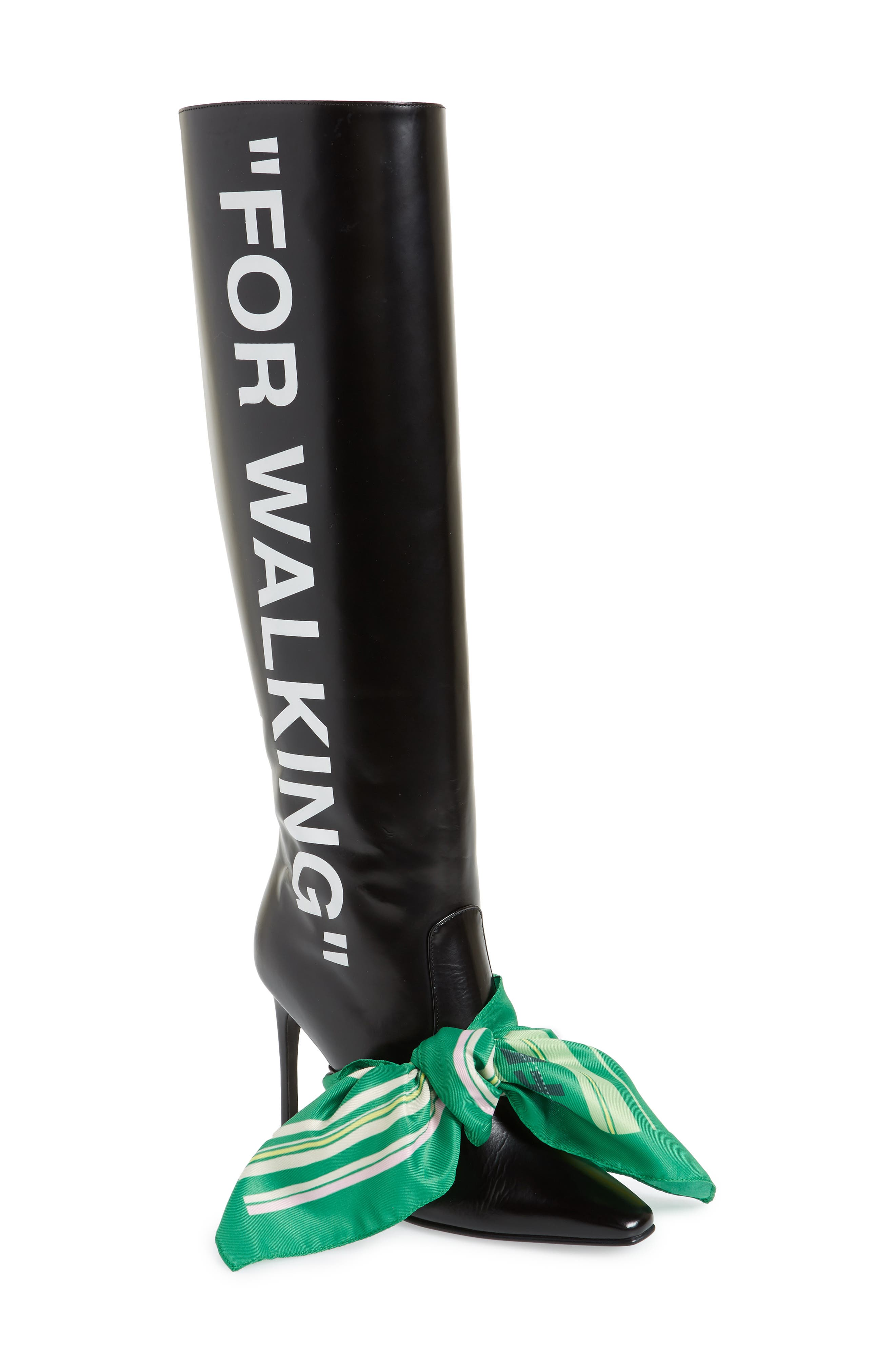 Scarf Boot,                         Main,                         color, BLACK MULTICOLOR