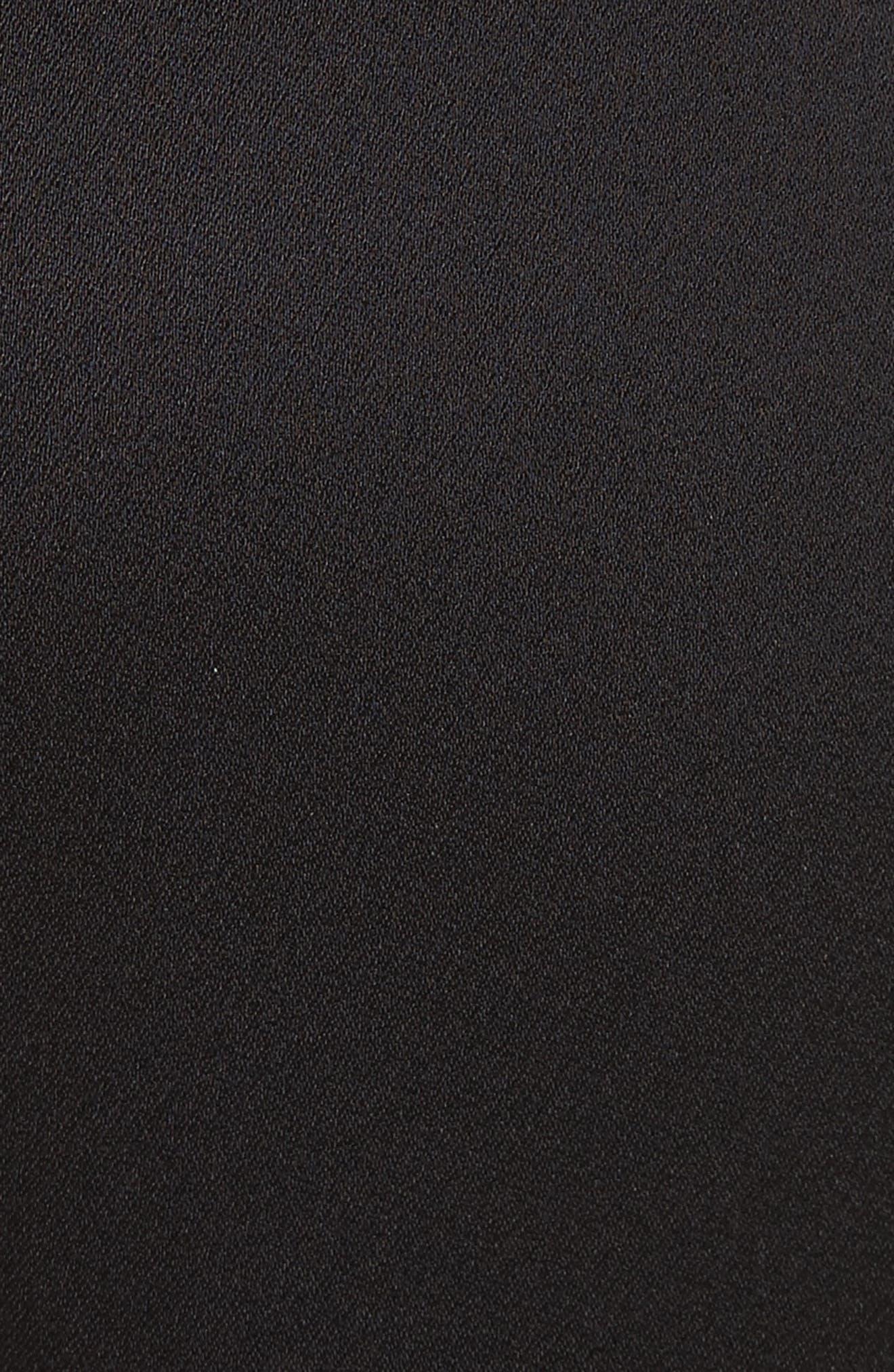 Fringe Side Seam Trousers,                             Alternate thumbnail 5, color,                             001