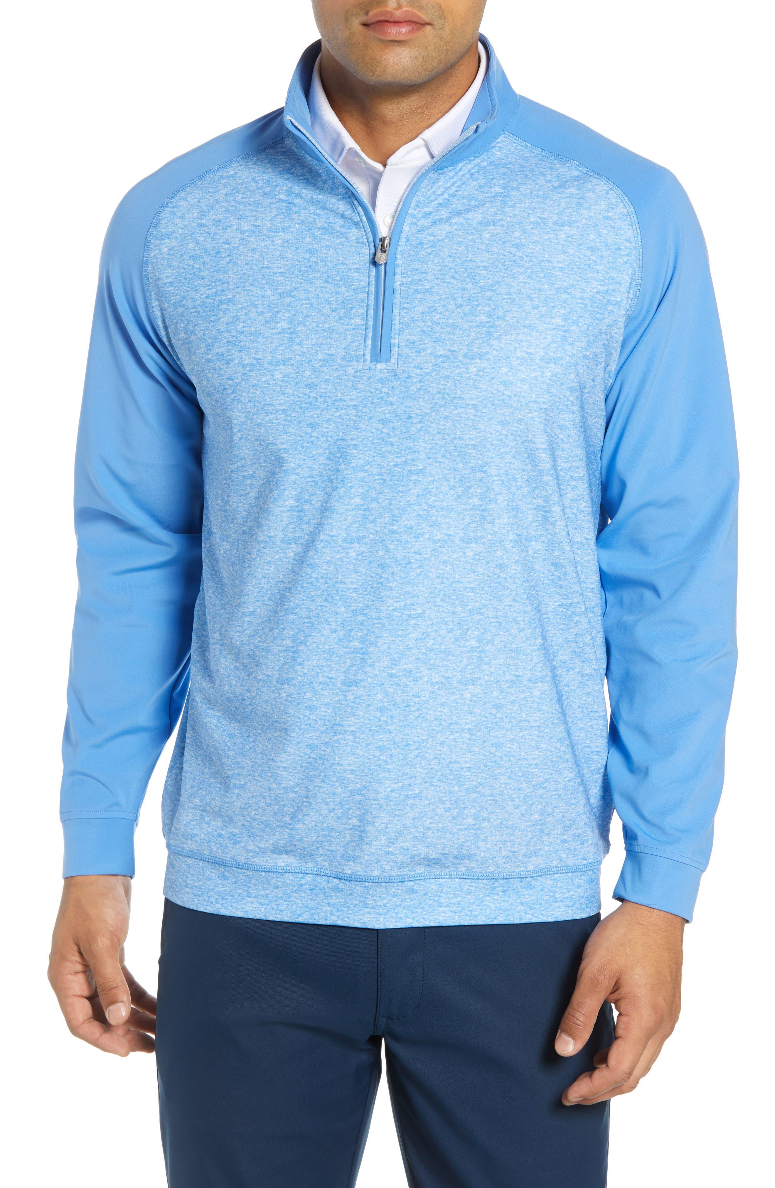 BOBBY JONES Rule 18 Tech Raglan Pullover in Blue