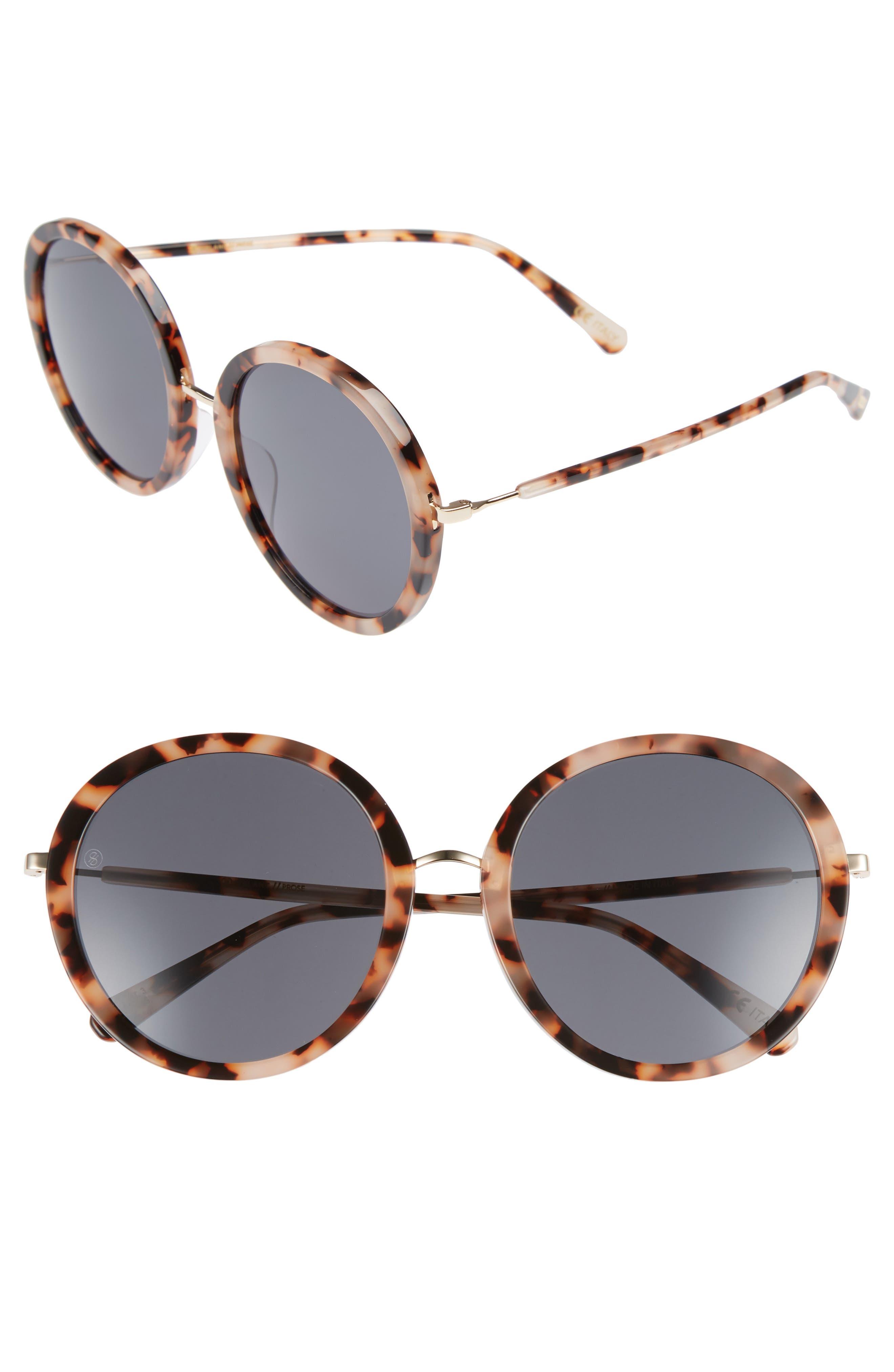 D'BLANC Prose 56mm Round Sunglasses,                         Main,                         color, 200
