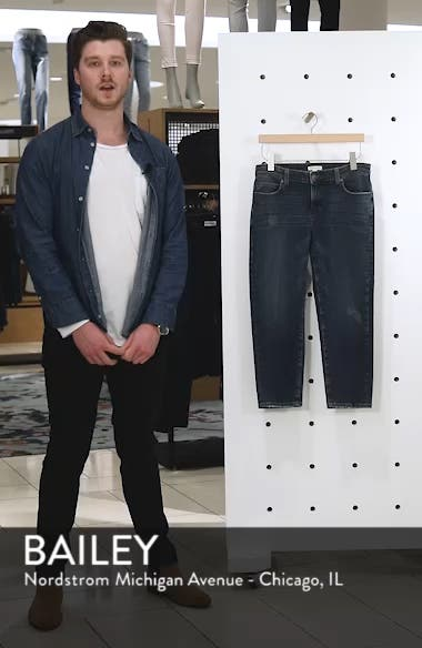 Tapered Stretch Organic Cotton Crop Jeans, sales video thumbnail
