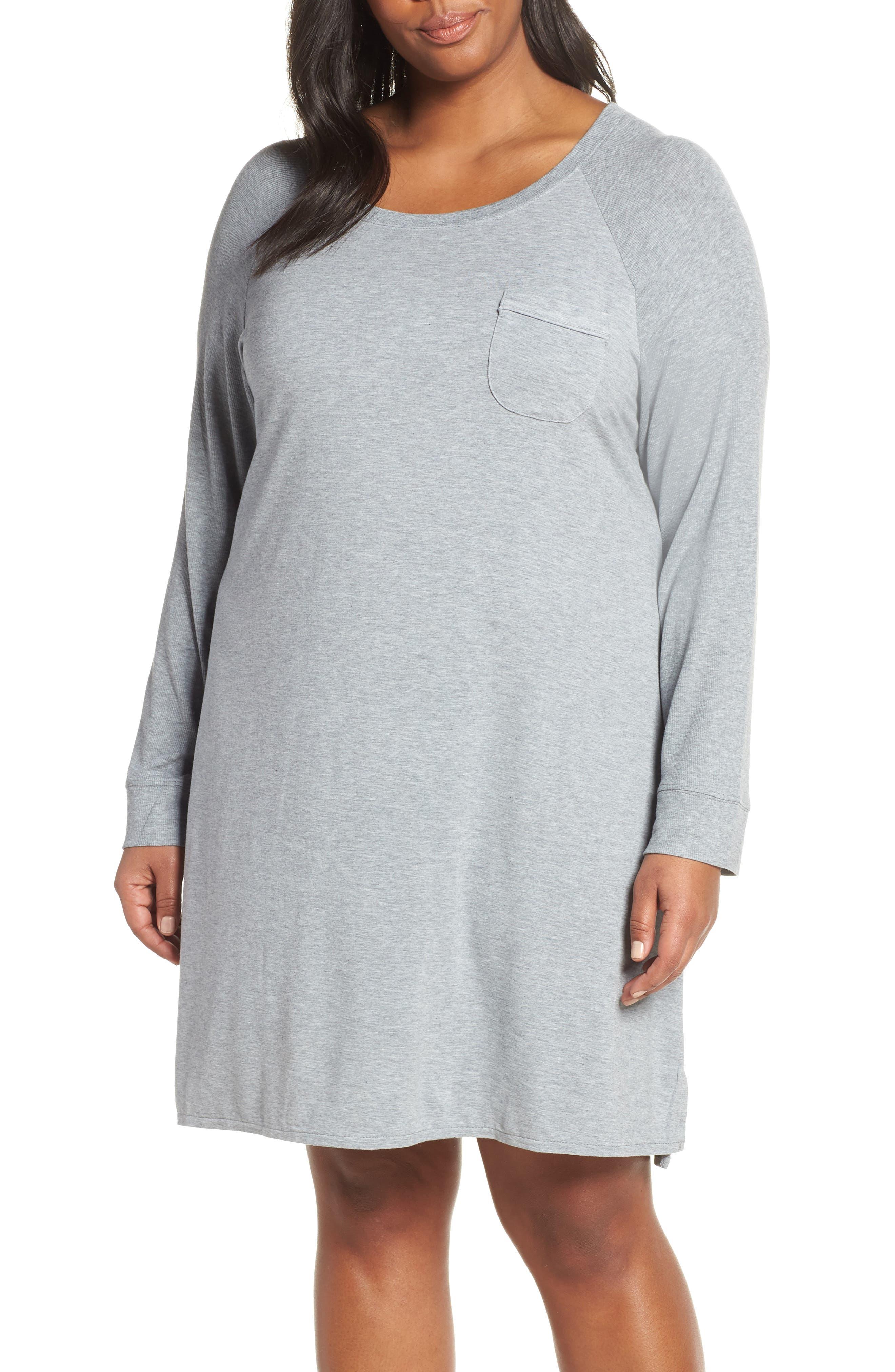 Breathe Sleep Shirt,                         Main,                         color, GREY STEEL HEATHER