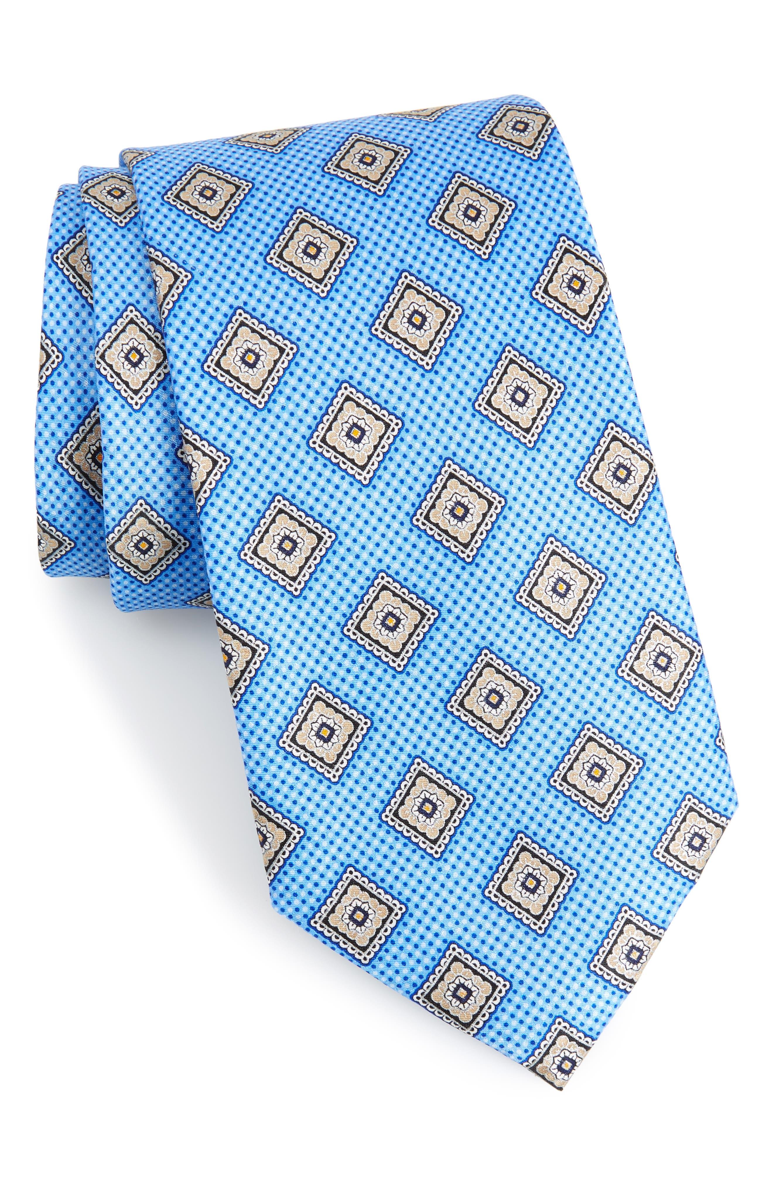 Medallion Silk Tie,                         Main,                         color, 425