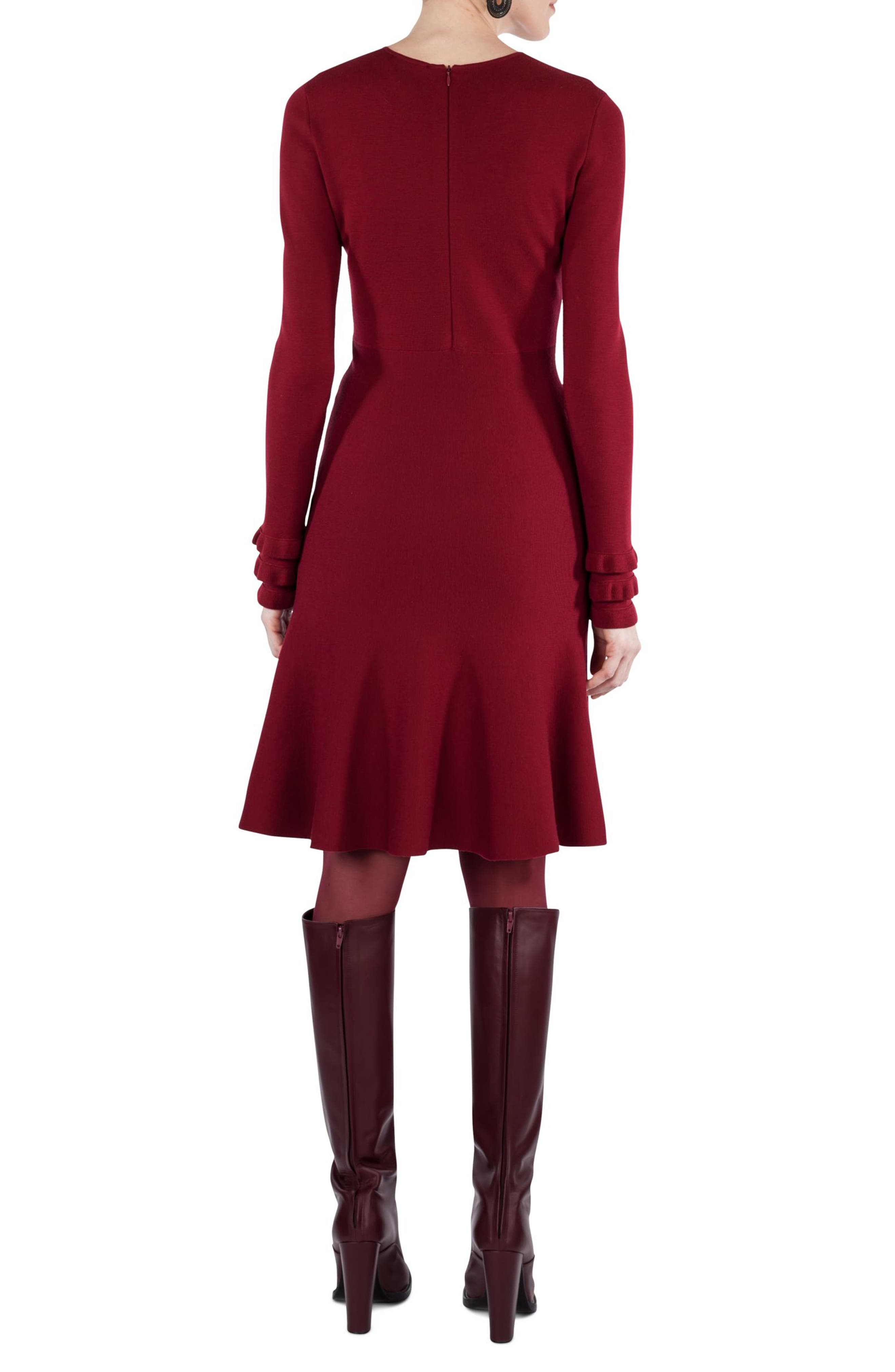 Knit Stretch Wool Dress,                             Alternate thumbnail 2, color,                             930