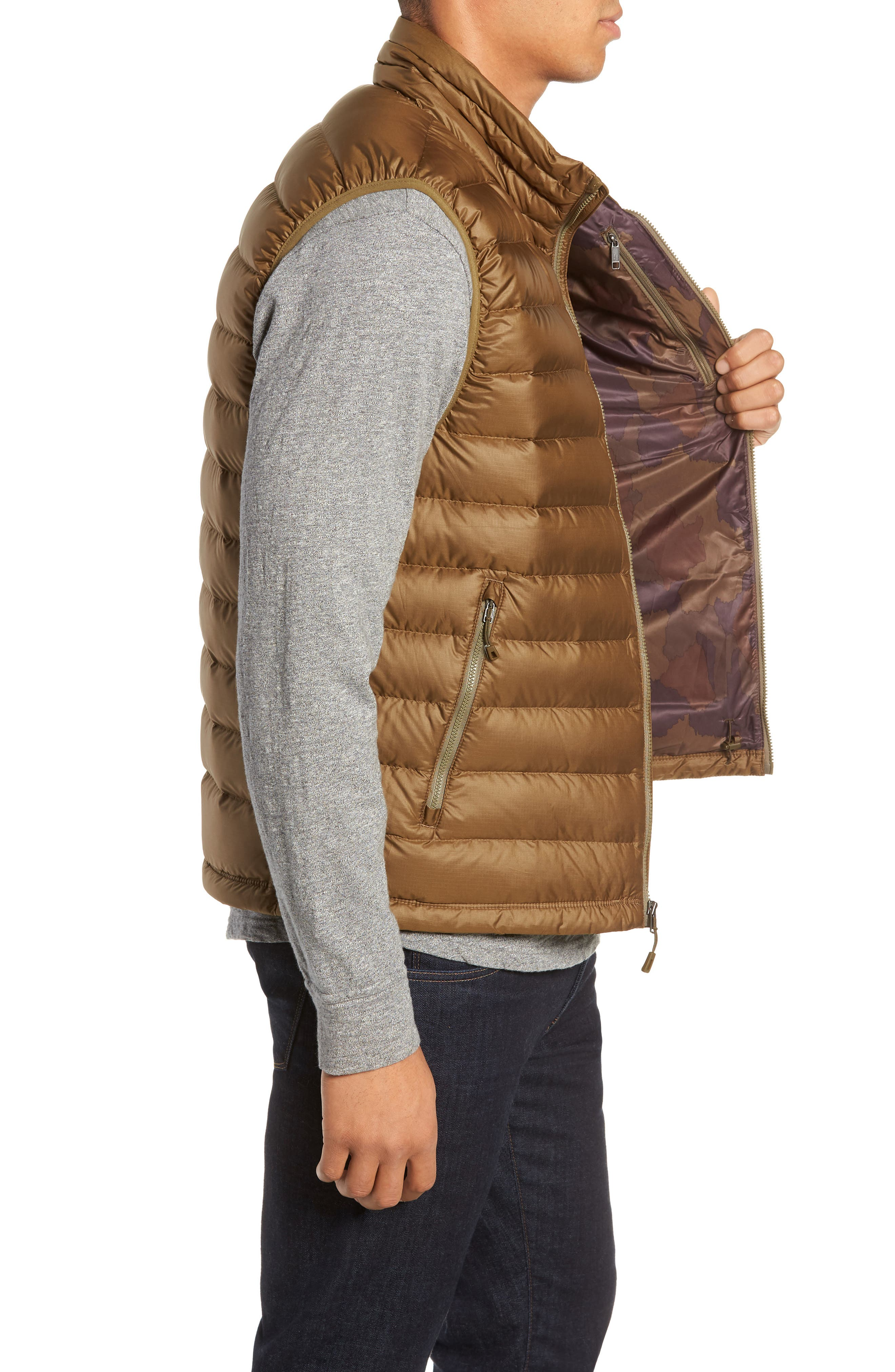 Windproof & Water Resistant 800 Fill Power Down Quilted Vest,                             Alternate thumbnail 20, color,