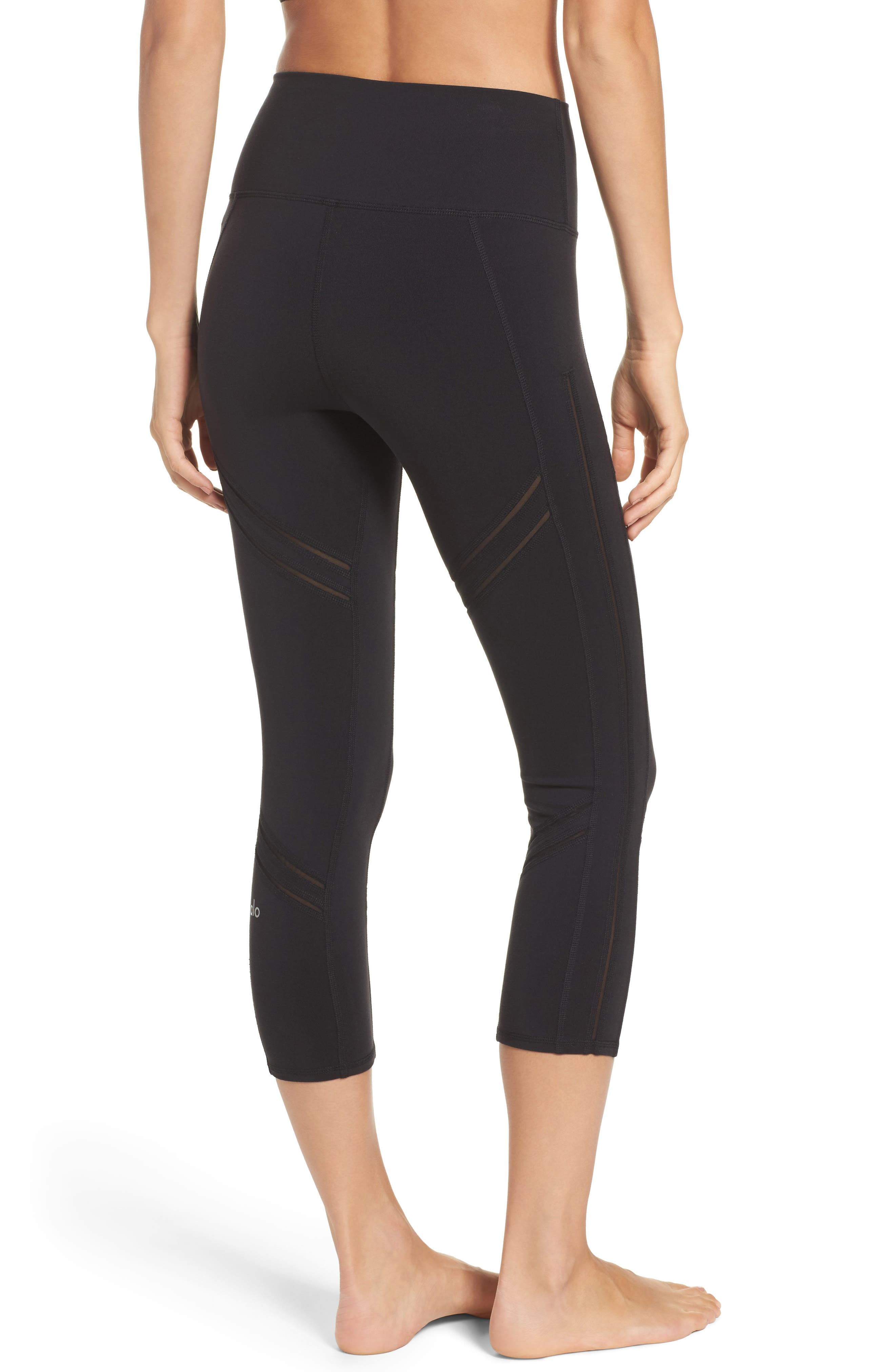 High Rise Cosmic Capri Leggings,                             Alternate thumbnail 2, color,                             001
