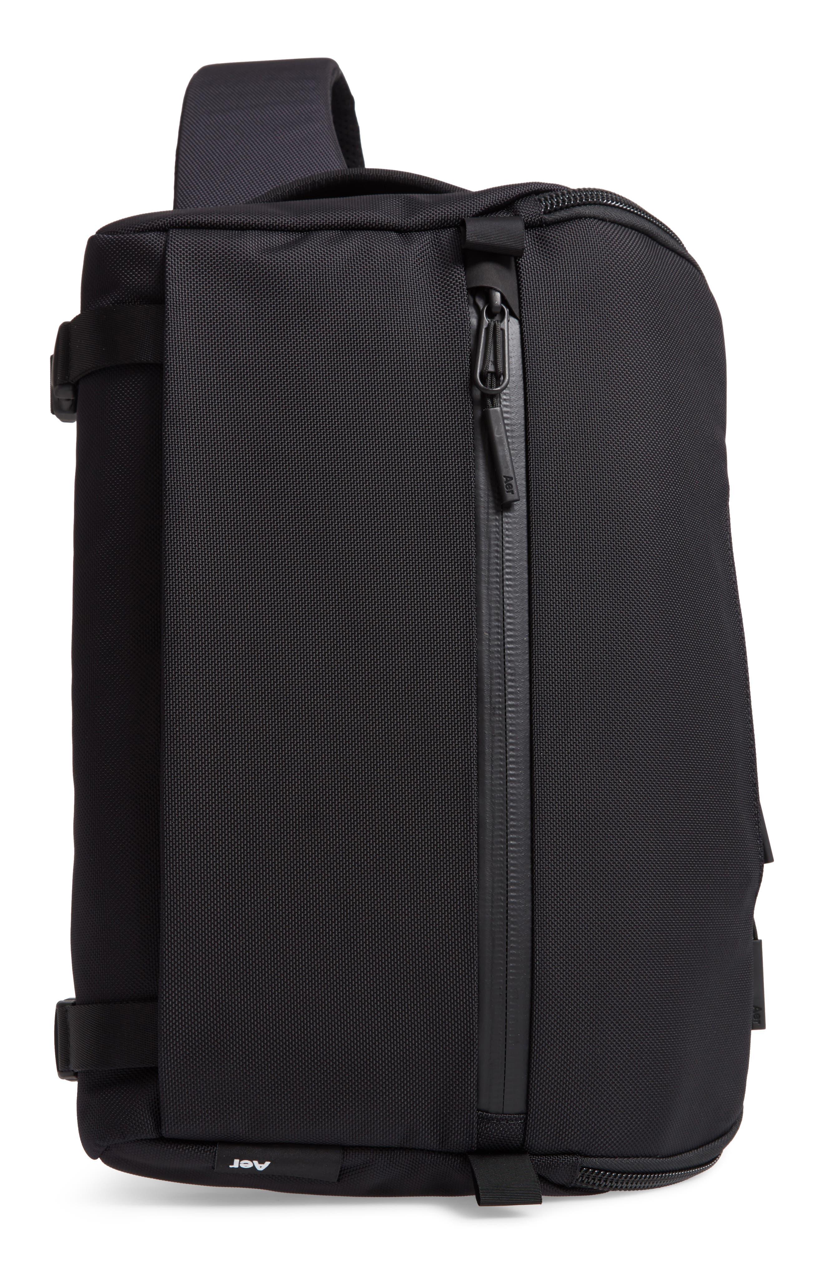 Travel Sling Crossbody Bag,                             Main thumbnail 1, color,                             BLACK