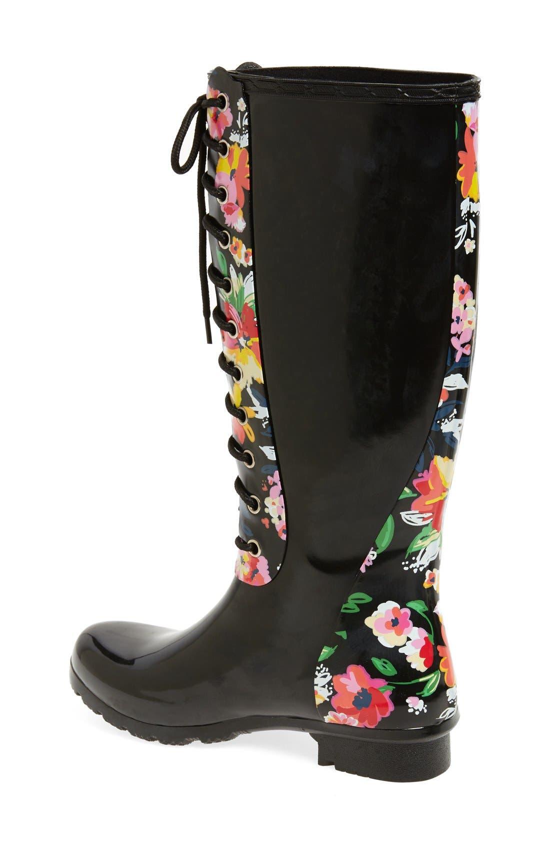 'Opinca' Waterproof Rain Boot,                             Alternate thumbnail 2, color,                             003