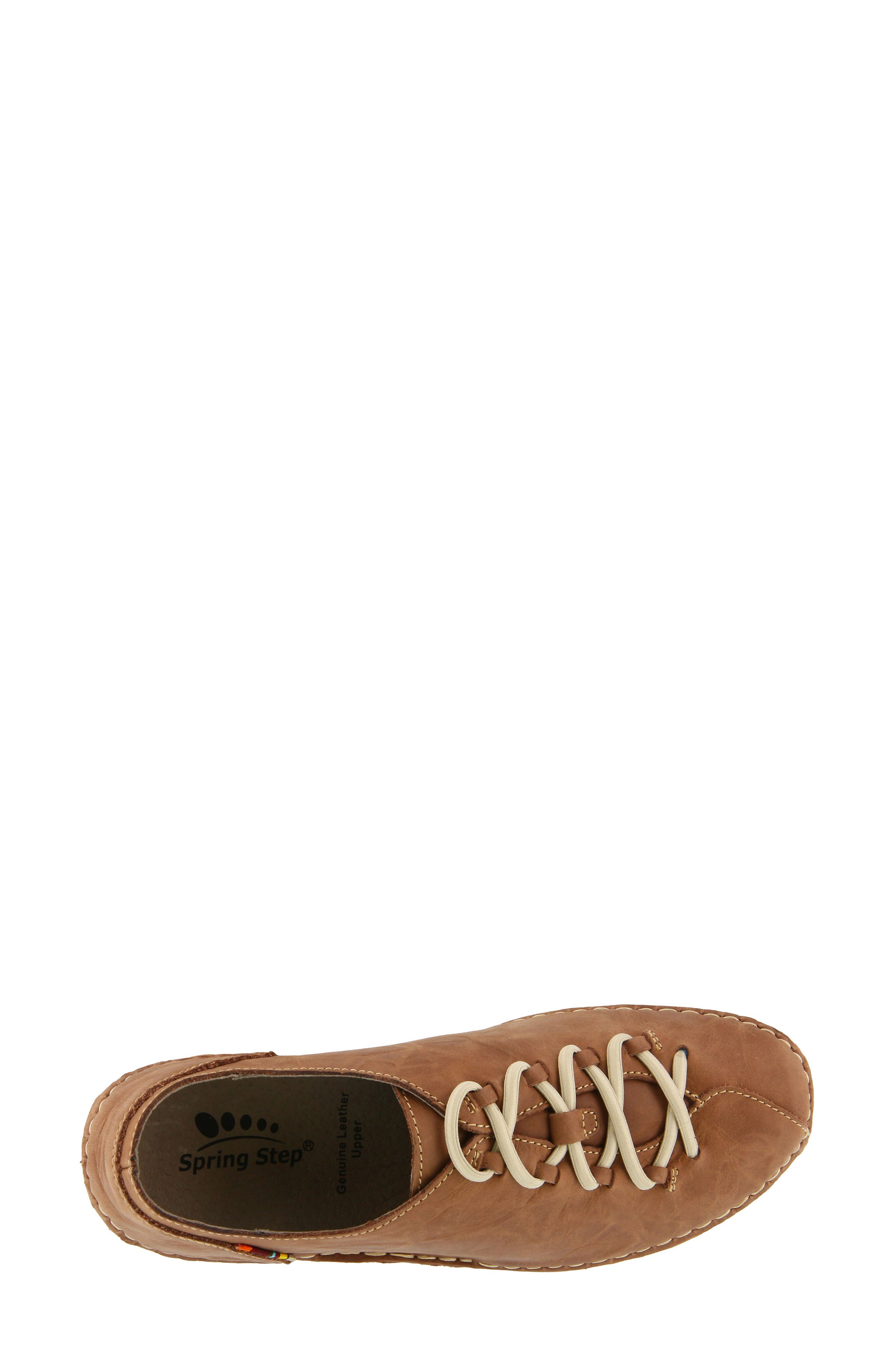 Carhop Sneaker,                             Alternate thumbnail 4, color,                             BROWN LEATHER
