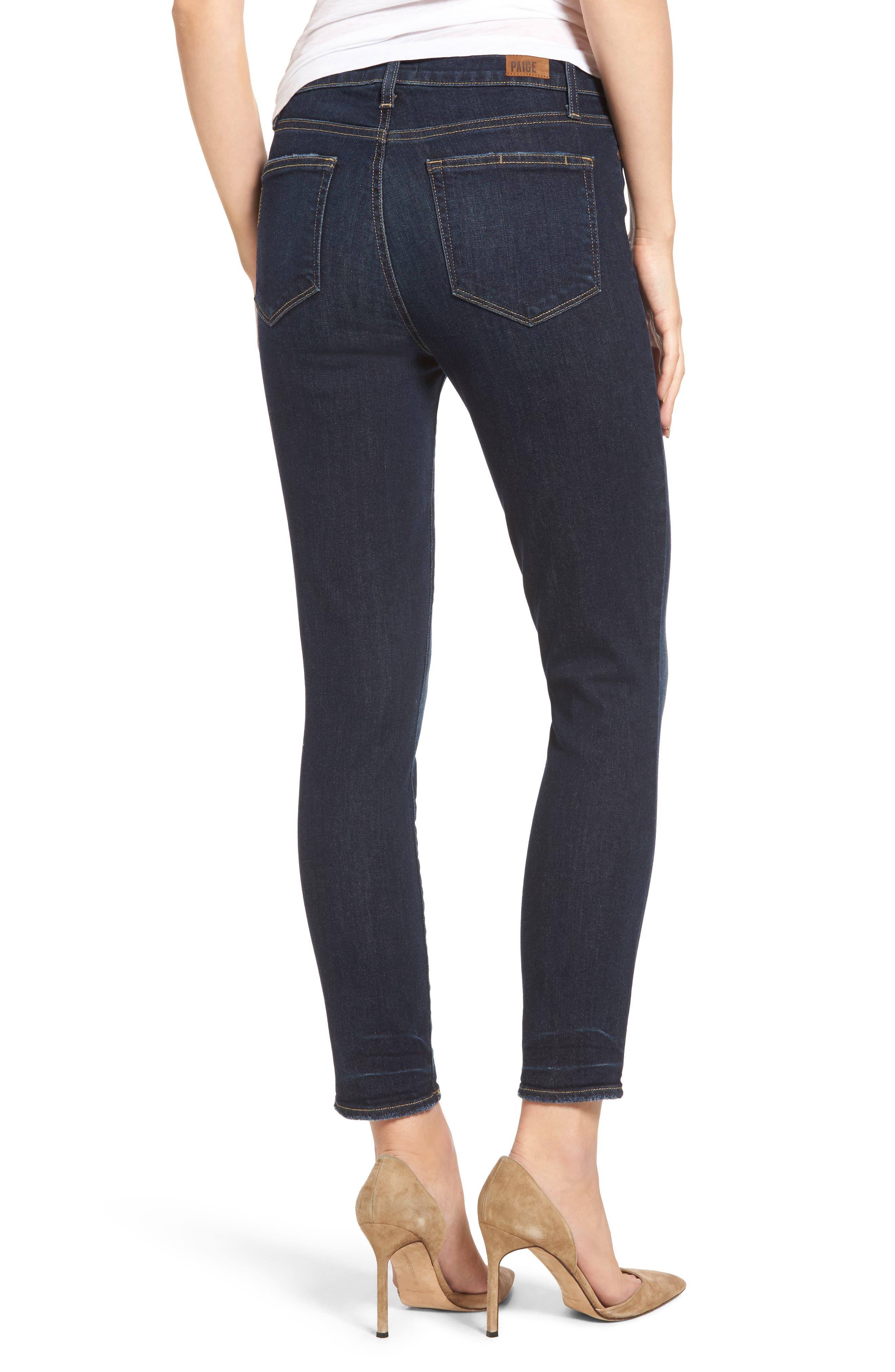 Hoxton Crop High Waist Skinny Jeans,                             Alternate thumbnail 2, color,                             400