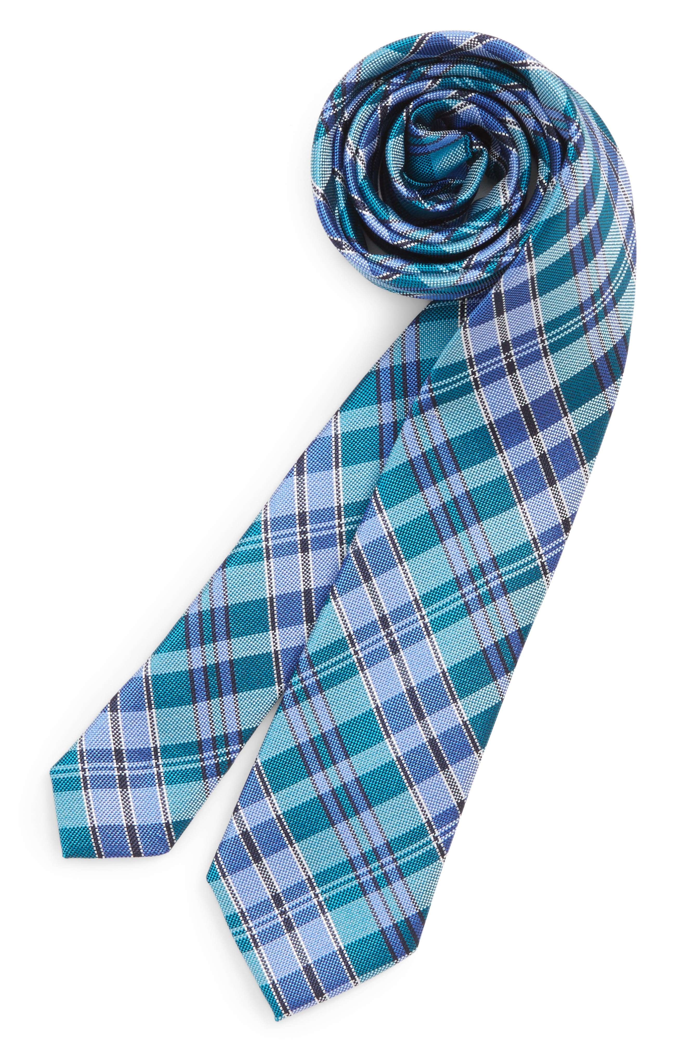 Check Silk Tie,                             Main thumbnail 5, color,