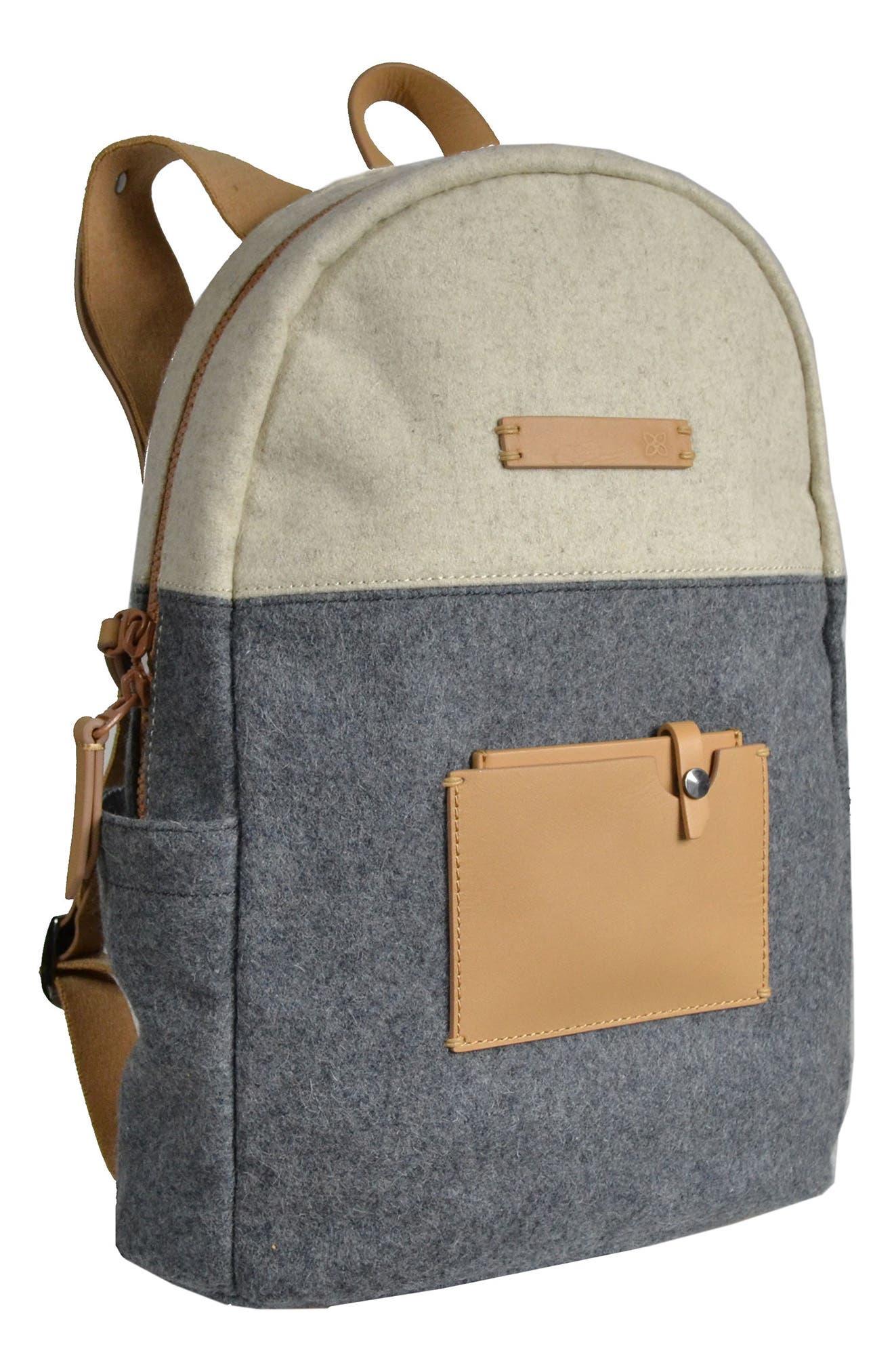 Indie Boiled Wool Backpack,                             Alternate thumbnail 13, color,